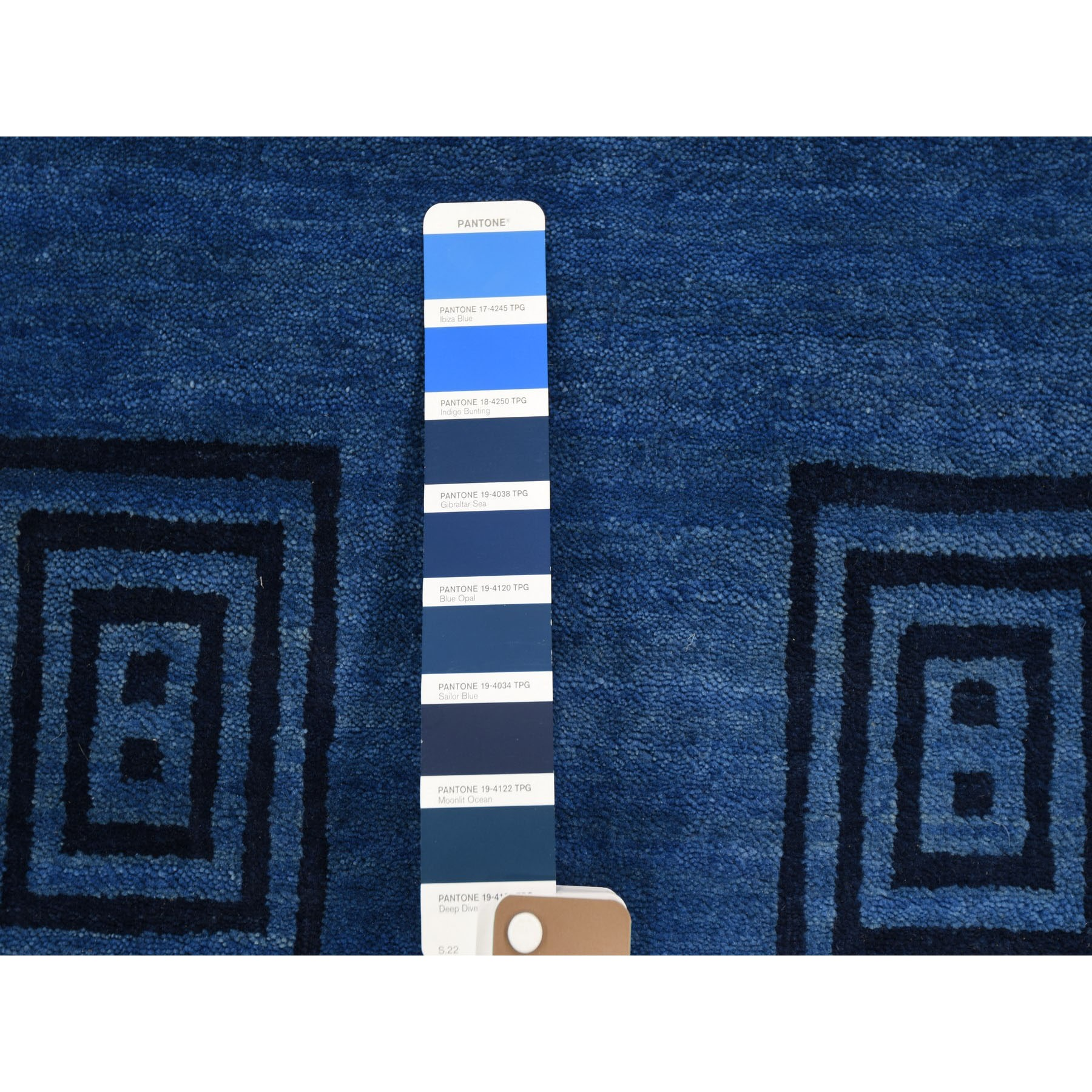 9-x12-4  Blue Pure Wool Lori Buft Gabbeh Thick And Plush Hand Knotted Oriental Rug