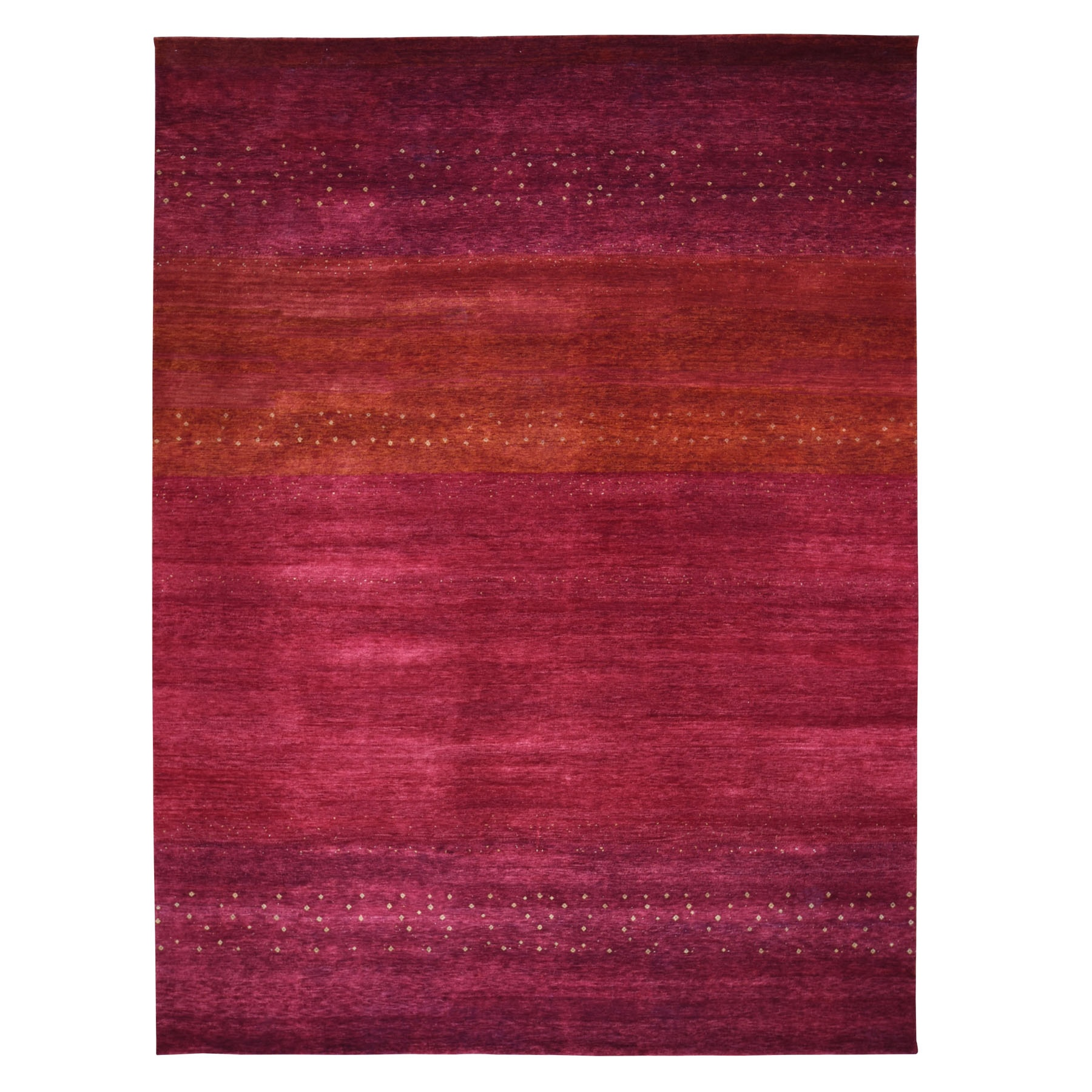 """9'X11'9"""" Red Pure Wool Lori Buft Gabbeh Thick And Plush Hand Knotted Oriental Rug moad89d7"""