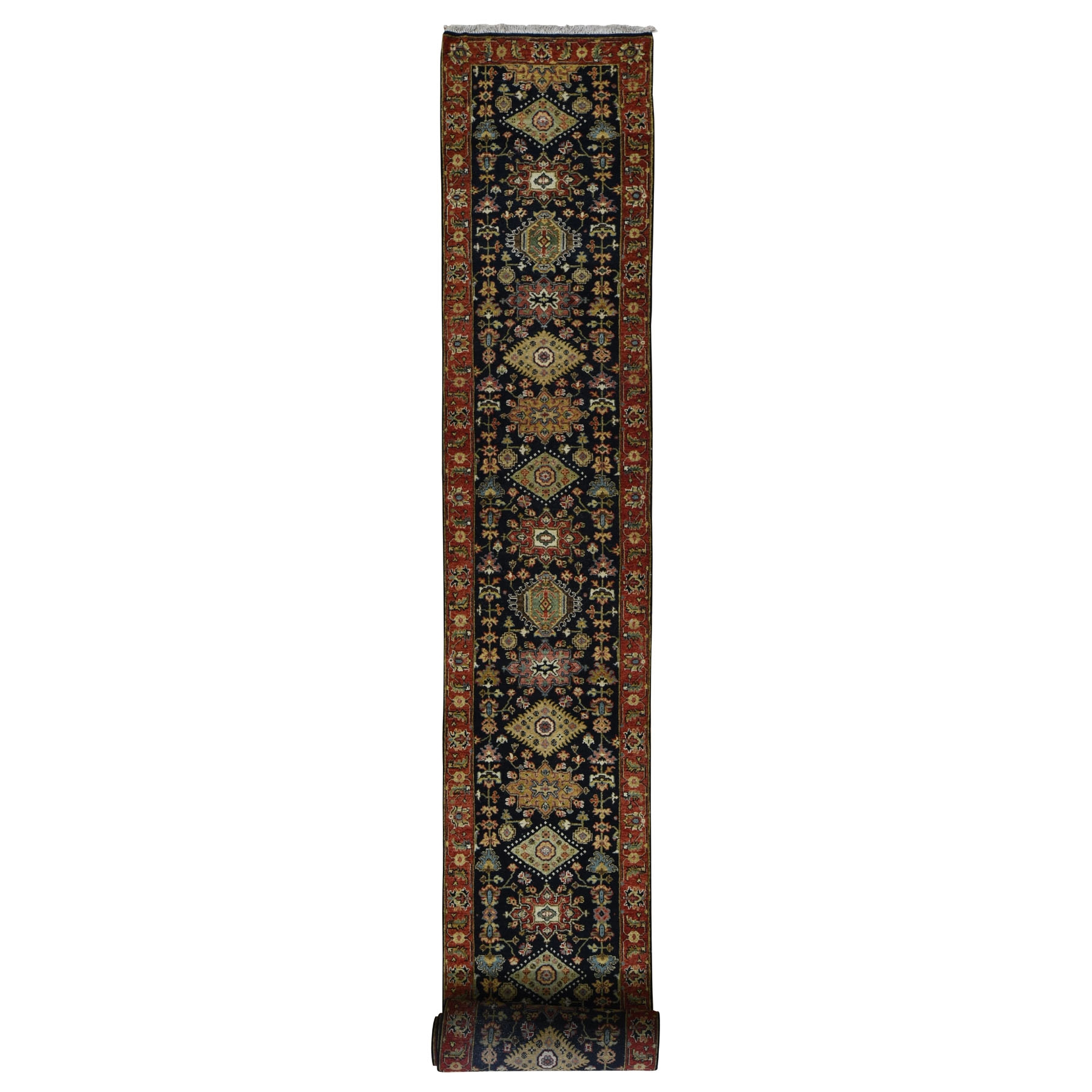 "2'7""X21'8"" Karajeh Design Xl Runner Pure Wool Hand Knotted Oriental Rug moad8977"