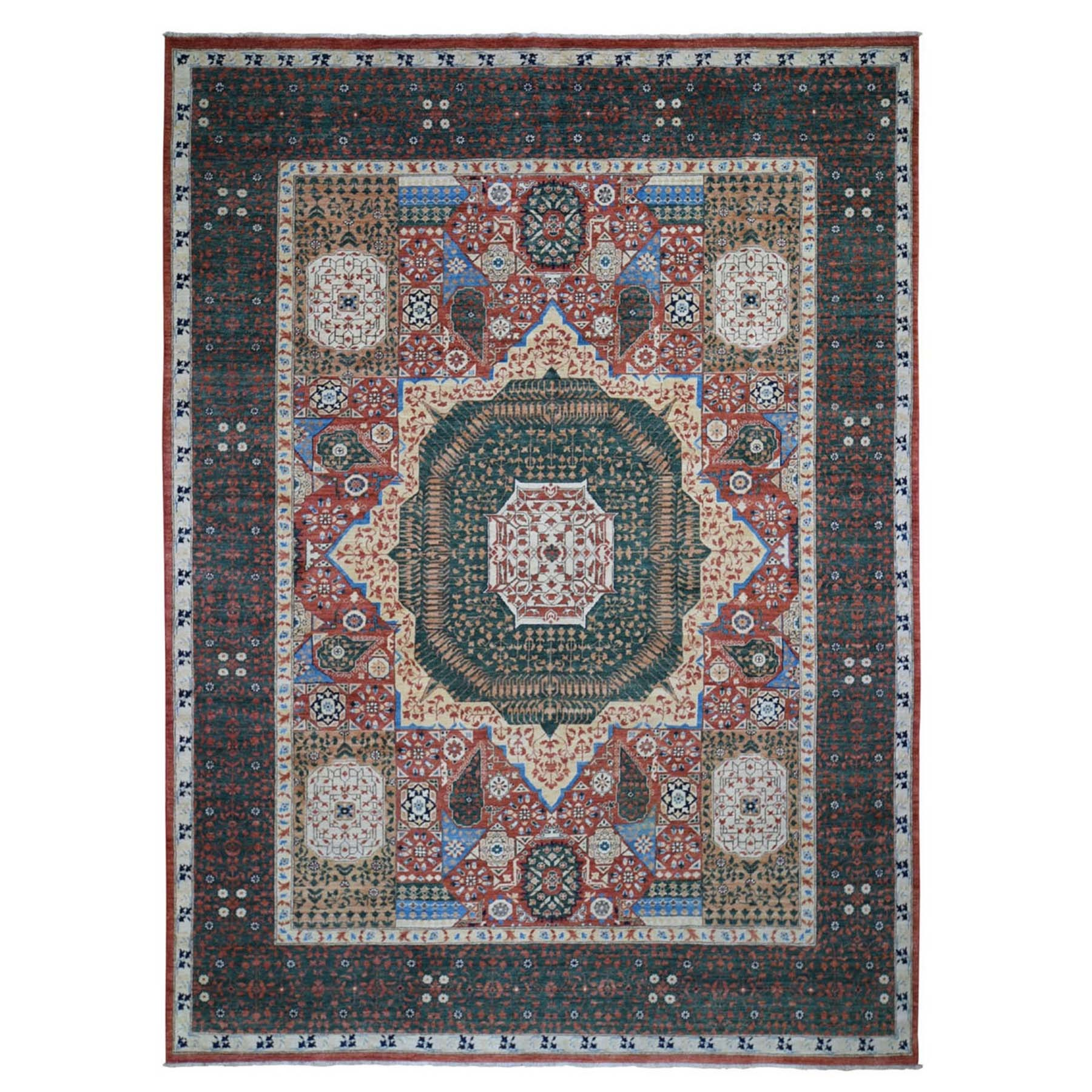 9'X12' Peshawar With Mamluk Design Hand Knotted Pure Wool Oriental Rug moad899d