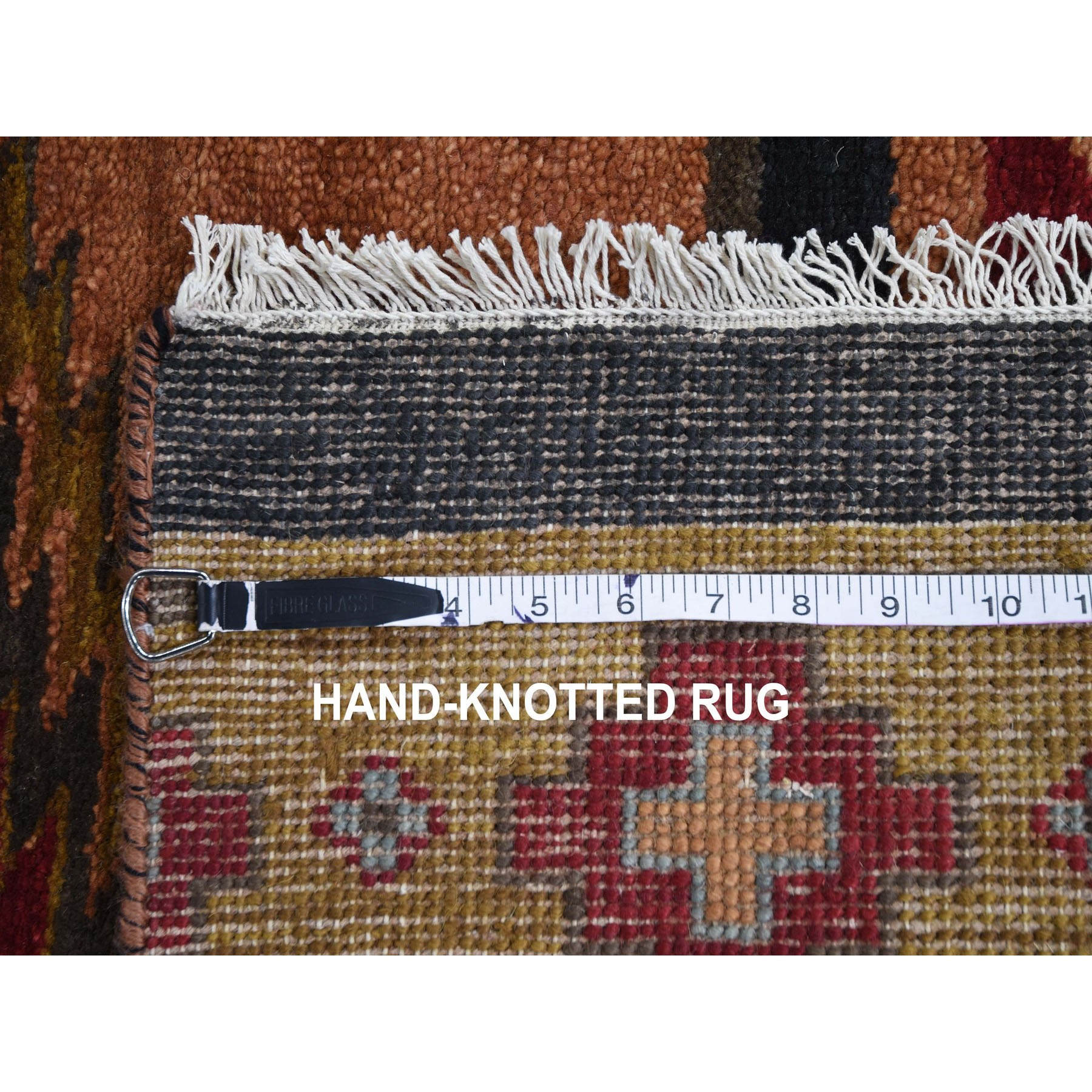 2-5 x11-9  Piled Navajo Design Pure Wool Hand Knotted Runner Oriental Rug