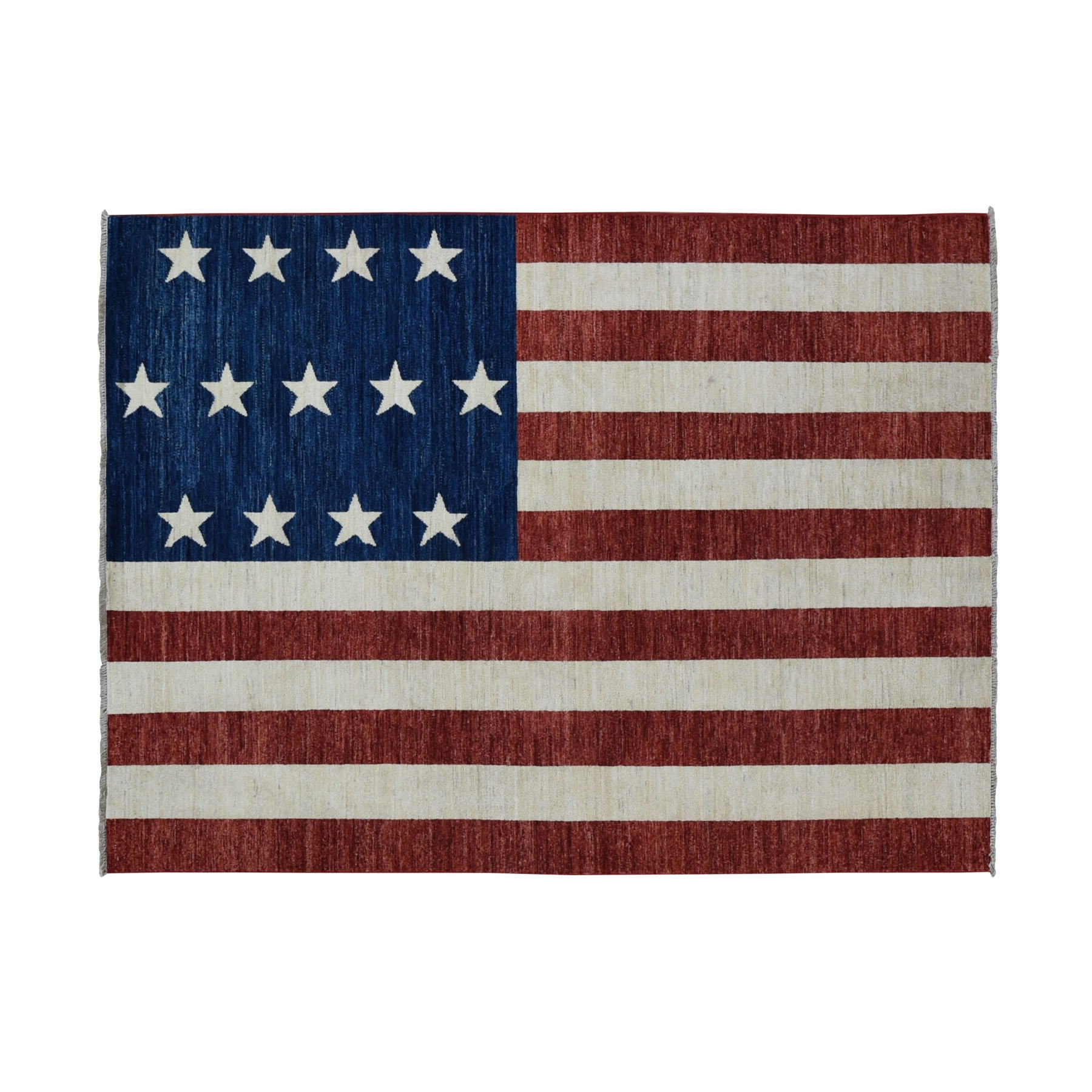 5'X7' Pure Wool Vintage Look American History Hand-Knotted Flag Design Wall Hanging Rug moad906a