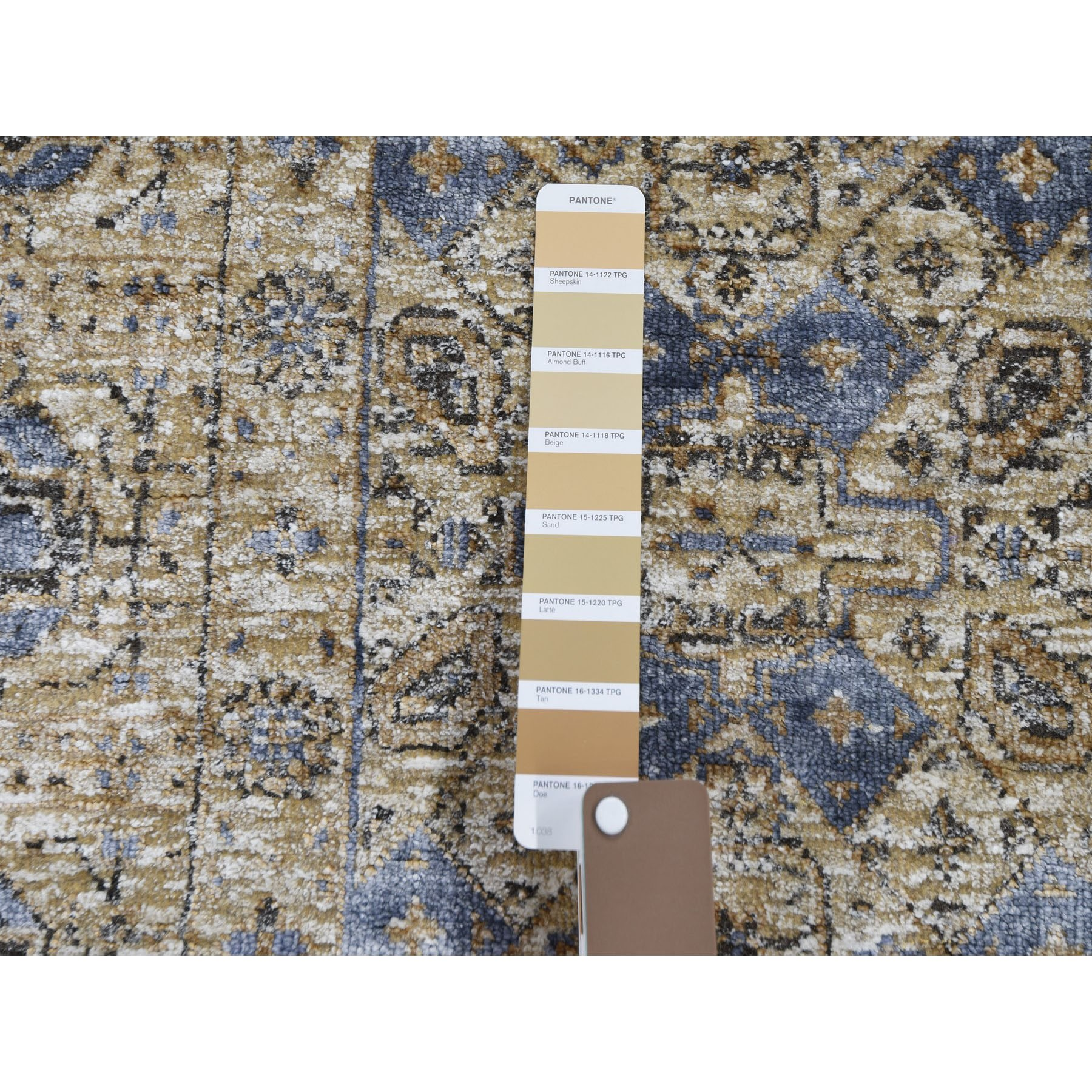2-6 x8-2  Silk With Textured Wool Mamluk Design Runner Hand knotted Rug