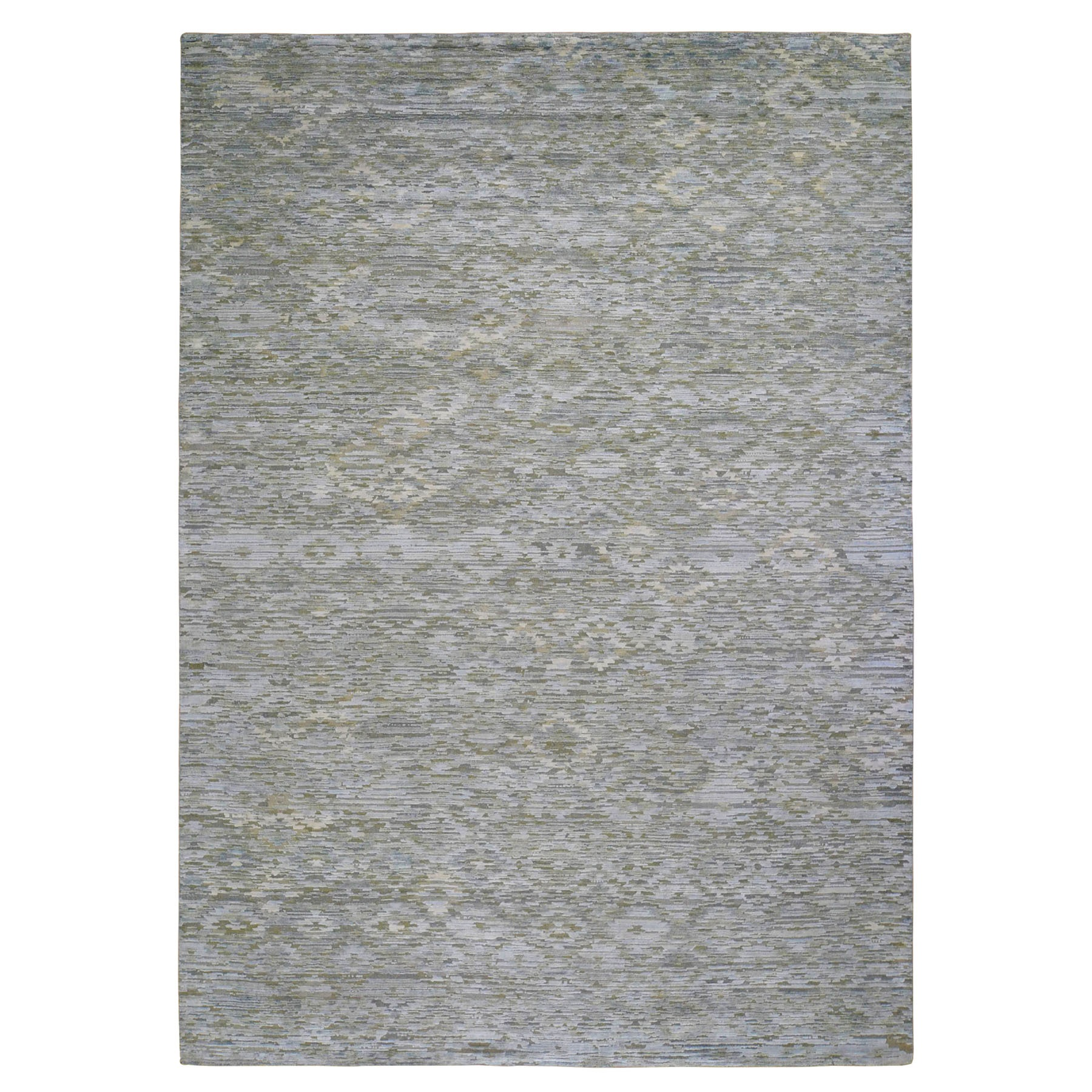 "9'X11'9"" Pure Silk Pastel Collection Hand Knotted Modern Oriental Rug moad908b"