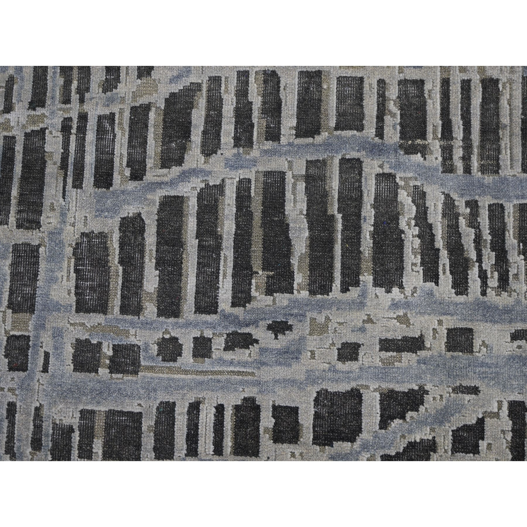 """12'2""""x15'4"""" THE LOST BRANCHES, Oversized Silk With Textured Wool Hand Knotted Oriental Rug"""
