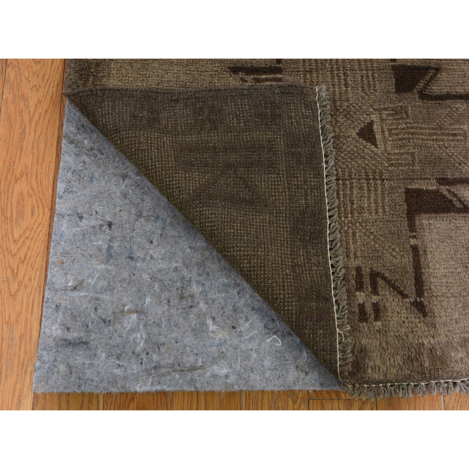 """2'7""""x12'8""""  Washed Out Afghan Baluch With Natural Colors Pure Wool Runner Hand Knotted Oriental Rug"""