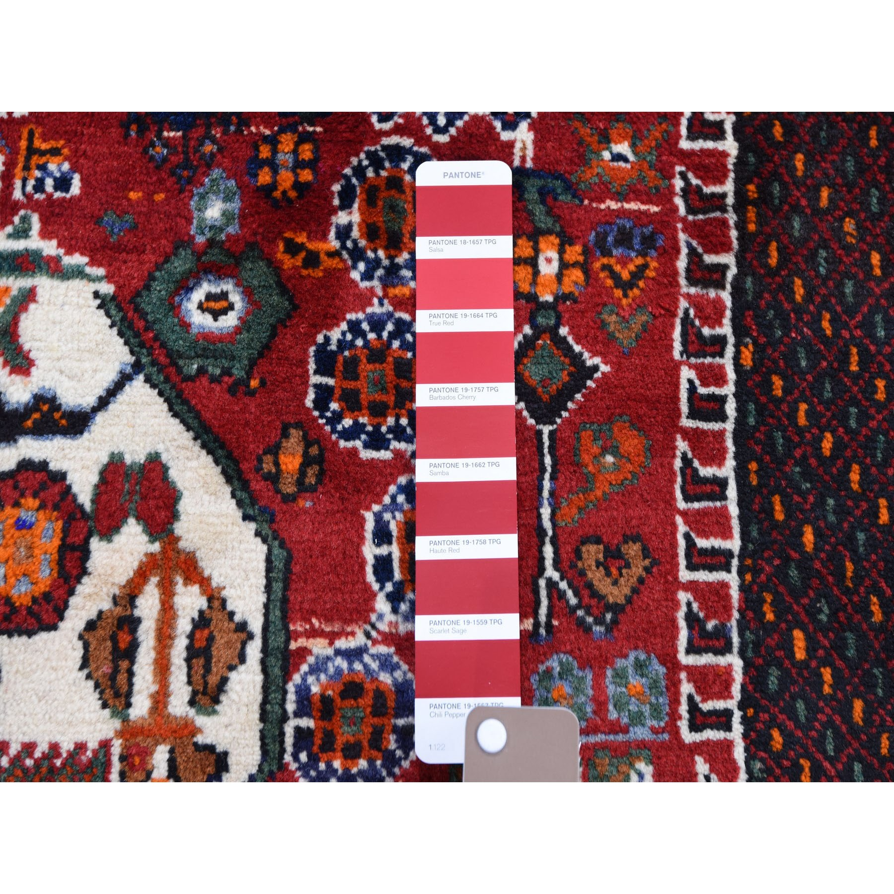 """4'5""""x6'5"""" Rust Red New Persian Shiraz Vase Design Full Pile Hand Knotted Oriental Rug"""