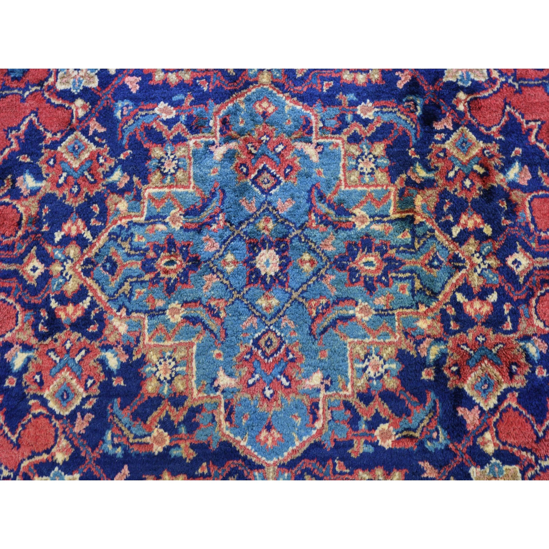 """7'9""""x12' Red Vintage Persian Viss Full Pile Clean And Soft Pure Wool Hand Knotted Oriental Rug"""