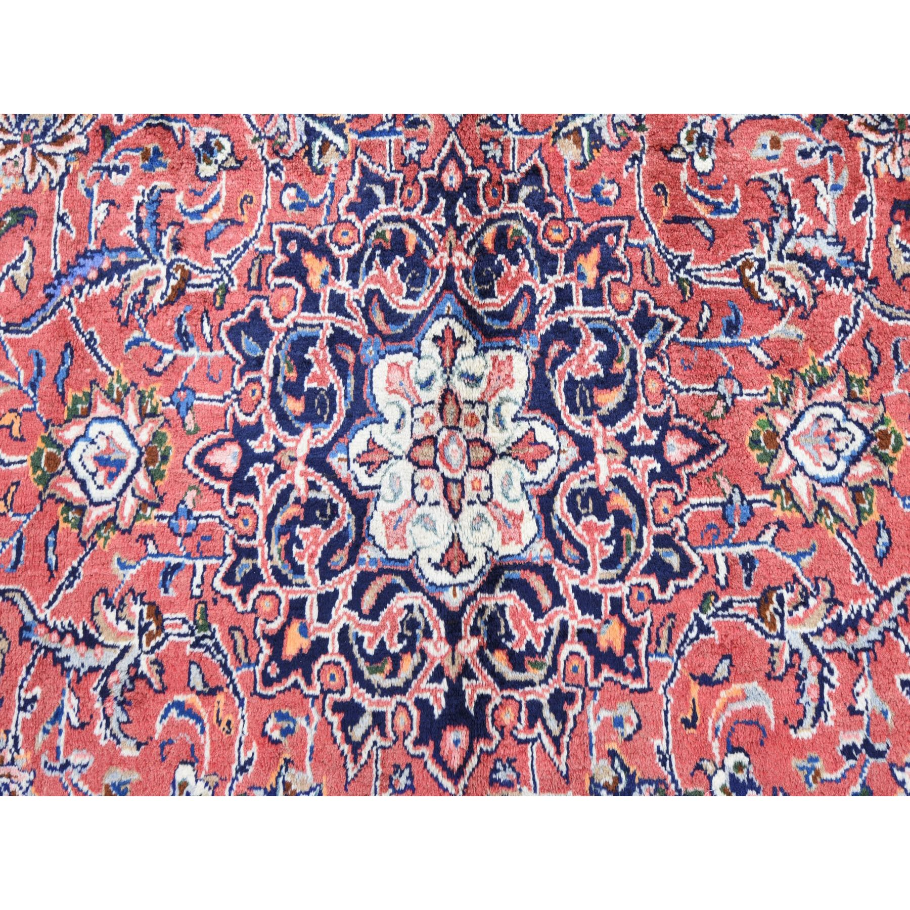 "6'8""x10'5"" Red Vintage Persian Mahal Full Pile Pure Wool Hand Knotted Oriental Rug"