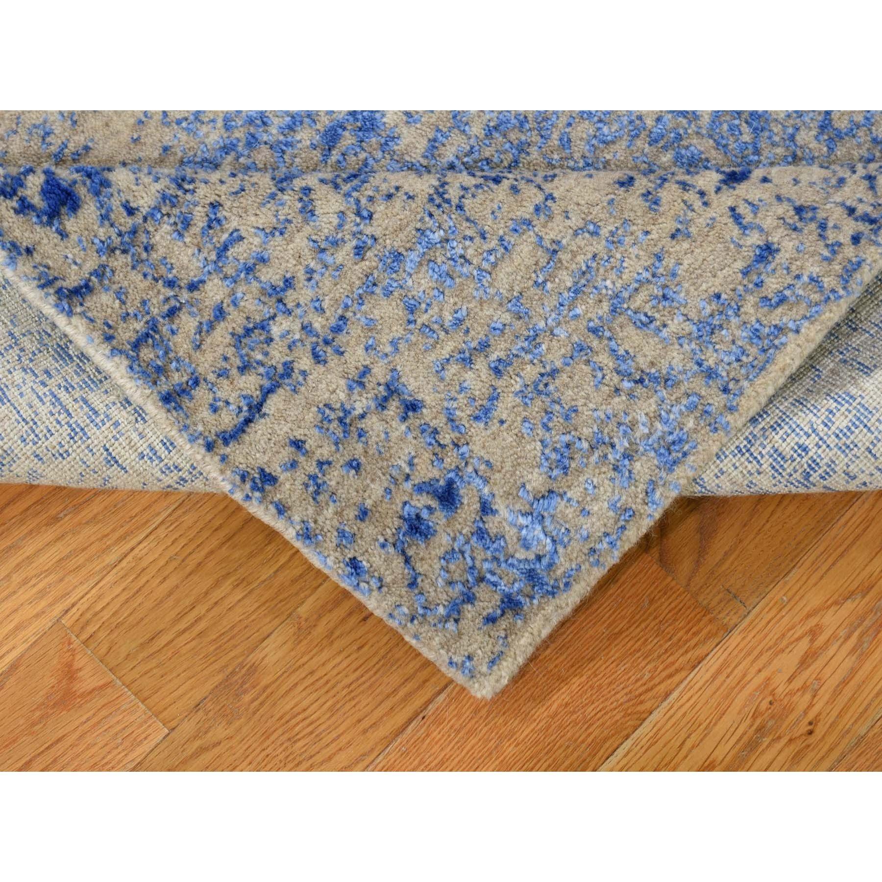 "2'5""x12' Wool And Silk Mamluk Design Jacquard Hand Loomed Runner Oriental Rug"