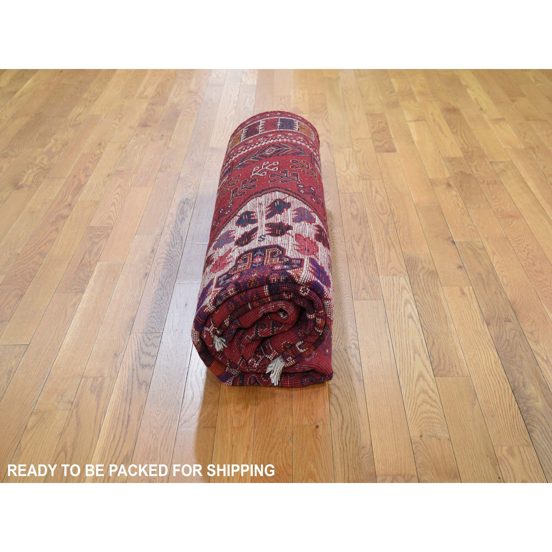 """8'x9'4"""" Red New Persian Shiraz With Trojan Horses Pure Wool Hand Knotted Oriental Rug"""