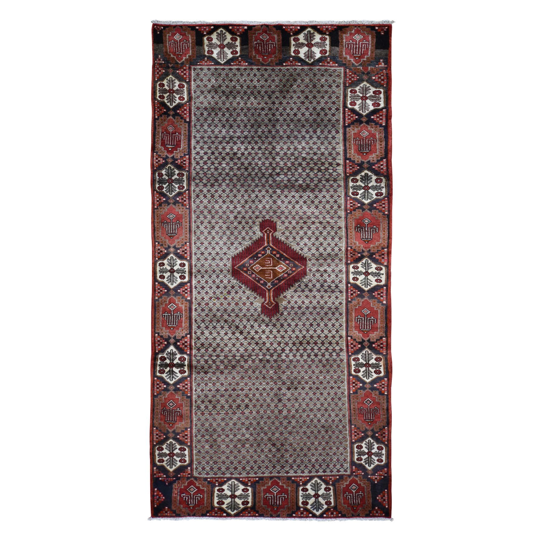 5'X11' Gallery Size New Persian Serab Pure Wool Camel Hair Hand Knotted Oriental Rug moad9ade