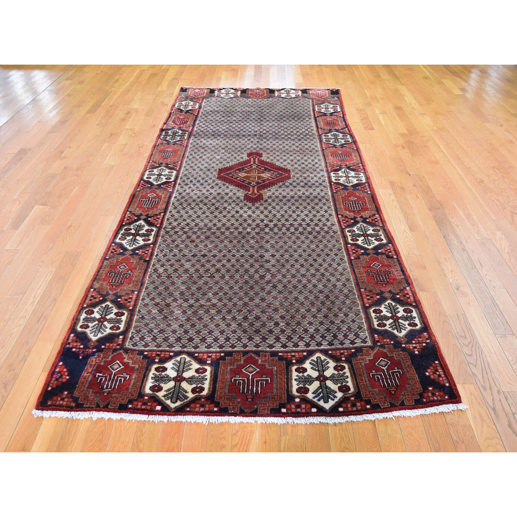 5'x11' Gallery Size New Persian Serab Pure Wool Camel Hair Hand Knotted Oriental Rug