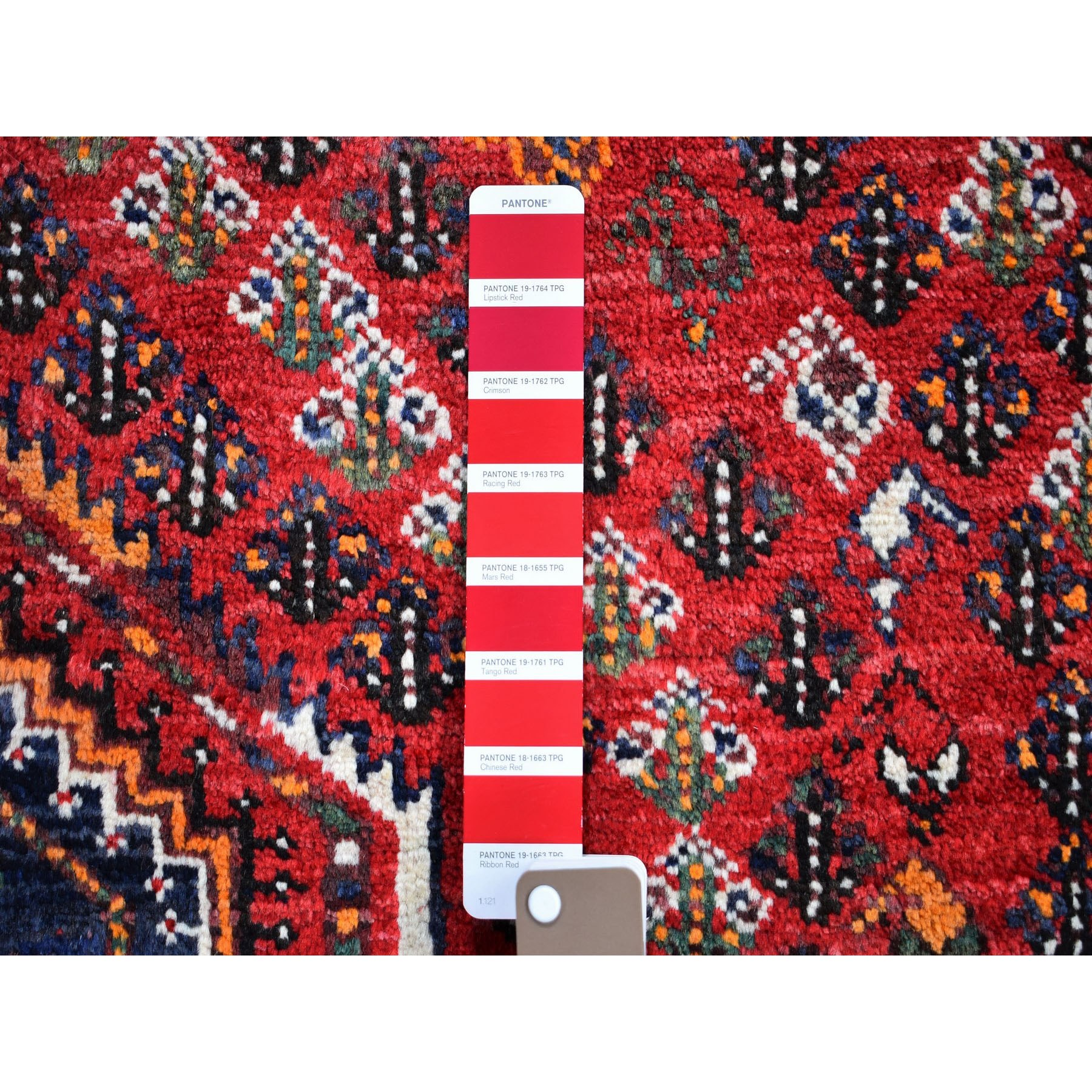 """5'7""""x6'2"""" Red Squarish New Persian Shiraz Pure Wool Hand Knotted Oriental Rug"""