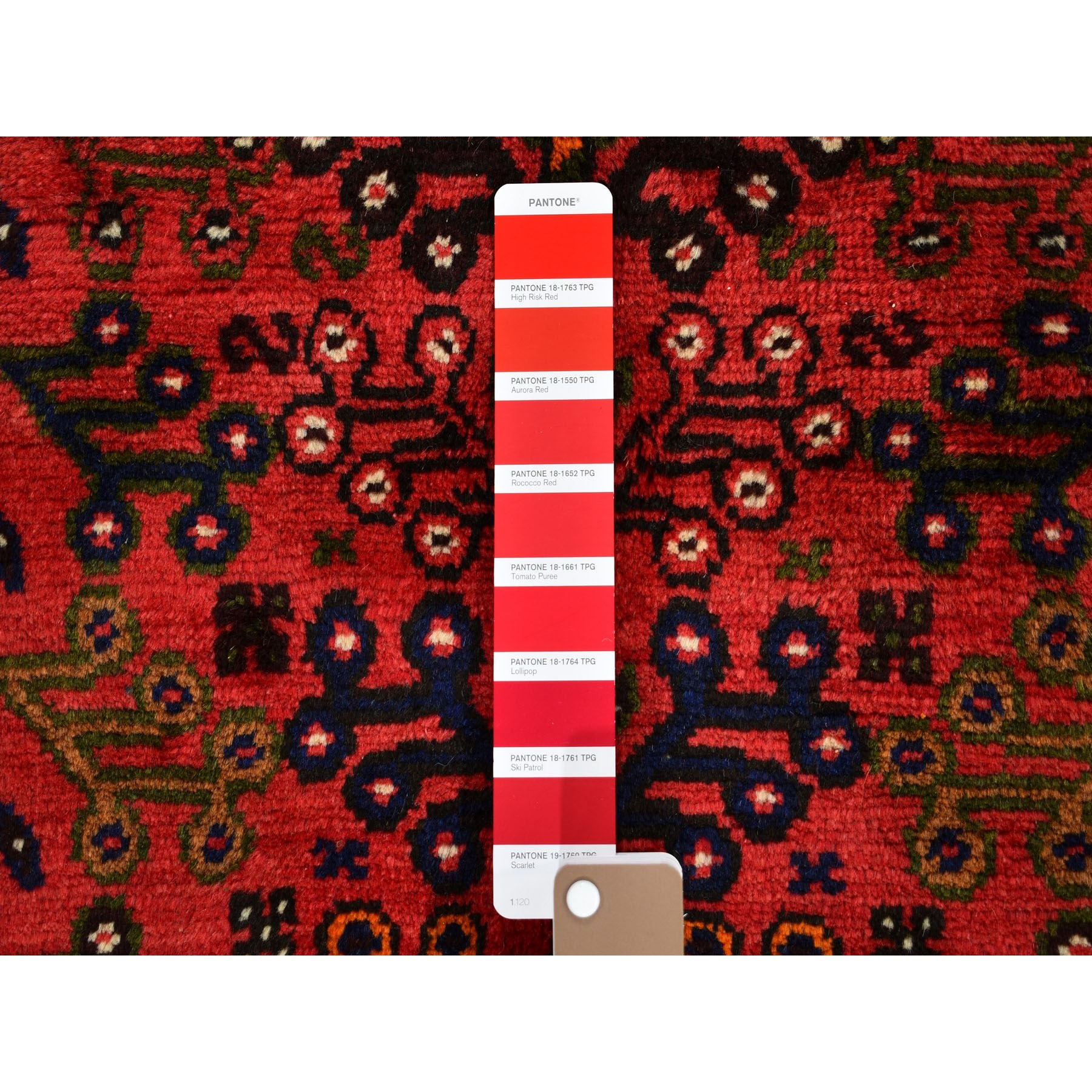 """6'6""""x9'8"""" Red New Persian Shiraz Full Pile Hand Knotted Oriental Rug"""