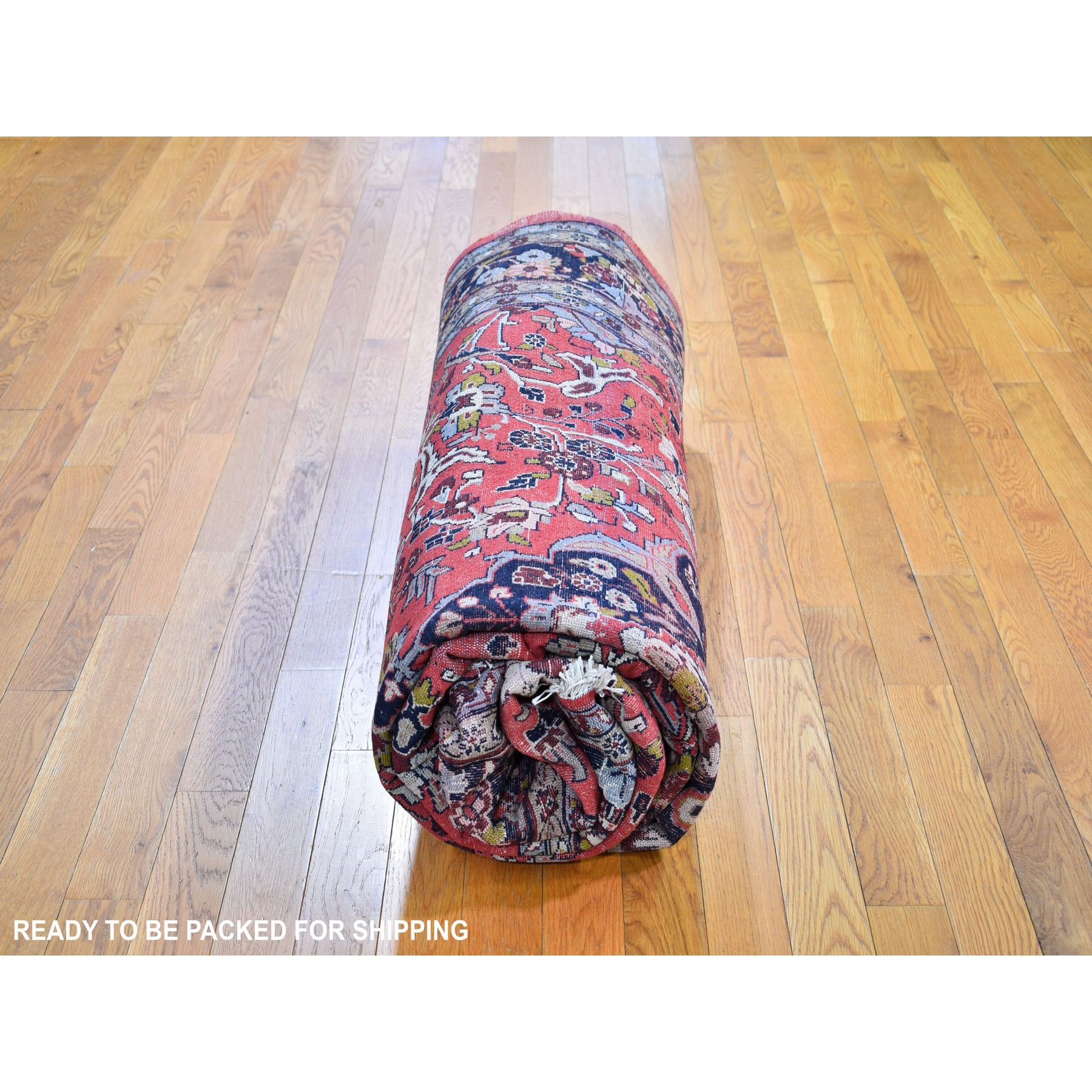 """6'9""""x10'10"""" Red New Persian Hamadan Full Pile Exc Cond Pure Wool Hand Knotted Oriental Rug"""