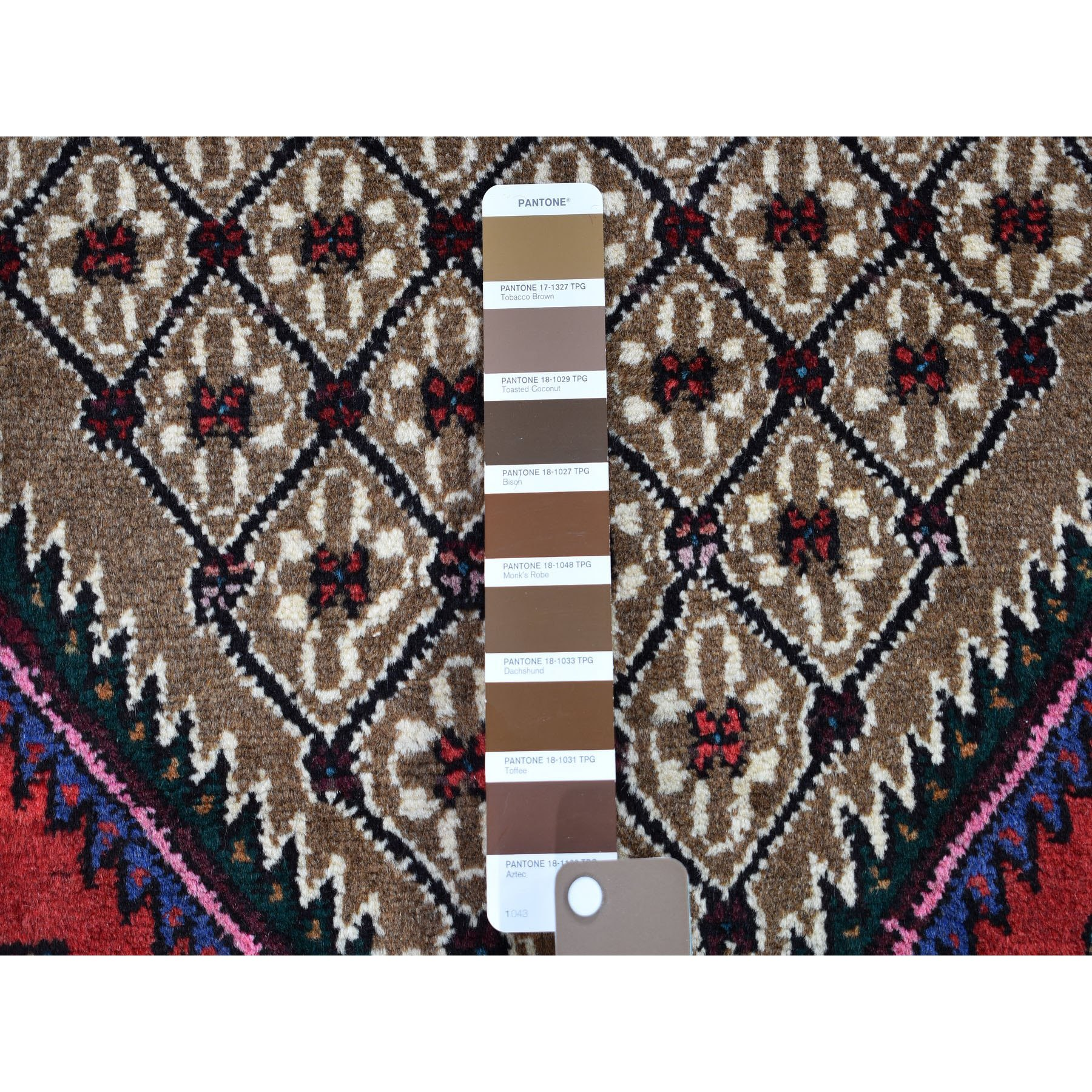 """4'1""""x6'9"""" Brown New Persian Serab Hand Knotted Oriental Rug"""