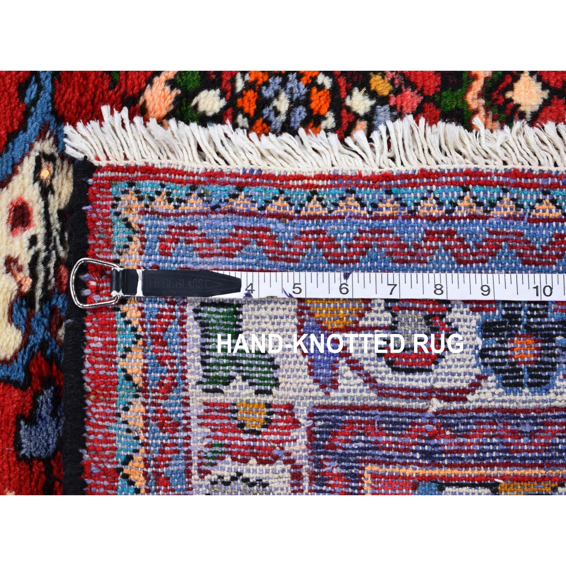 """3'6""""x4'9"""" Red New Persian Hamadan Pure Wool Hand Knotted Oriental Rug"""