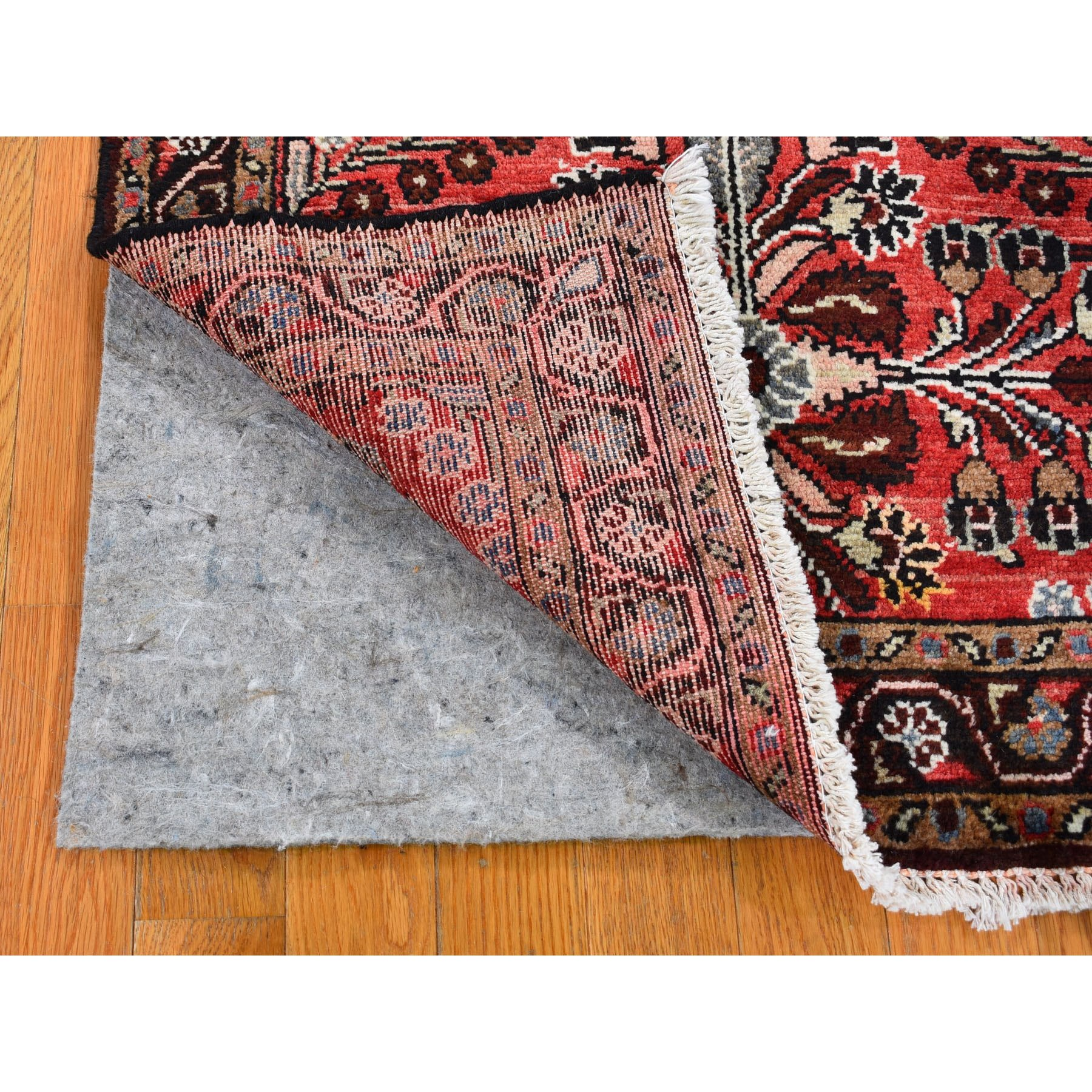 """2'10""""x5'3"""" Red New Persian Lilahan Pure Wool Hand Knotted Oriental Rug"""