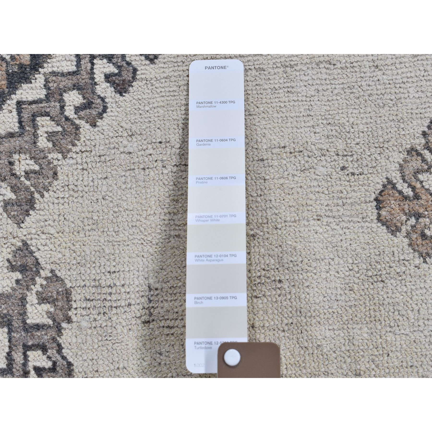 """4'2""""x6'8"""" Afghan Baluch Natural Colors Hand-Knotted Pure Wool Oriental Rug"""