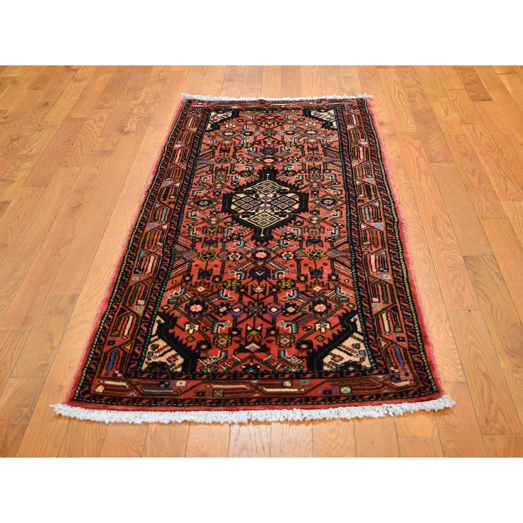 2-7 x6-2  Red New Persian Hamadan Pure Wool Hand Knotted Short Runner Tribal Oriental Rug