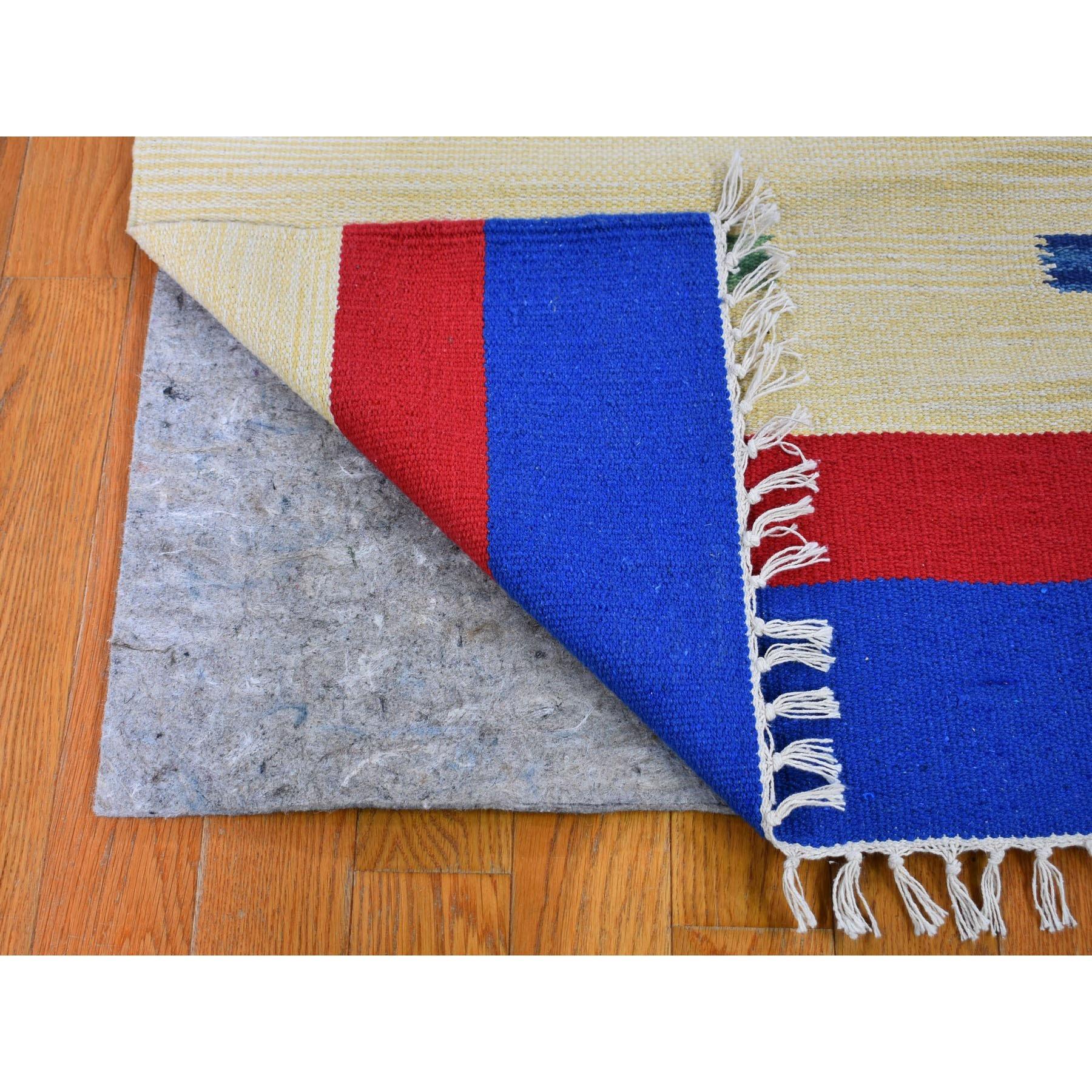 2-6 x7-9  Flat Weave Kilim Hand Woven Runner Southwestern Design Rug