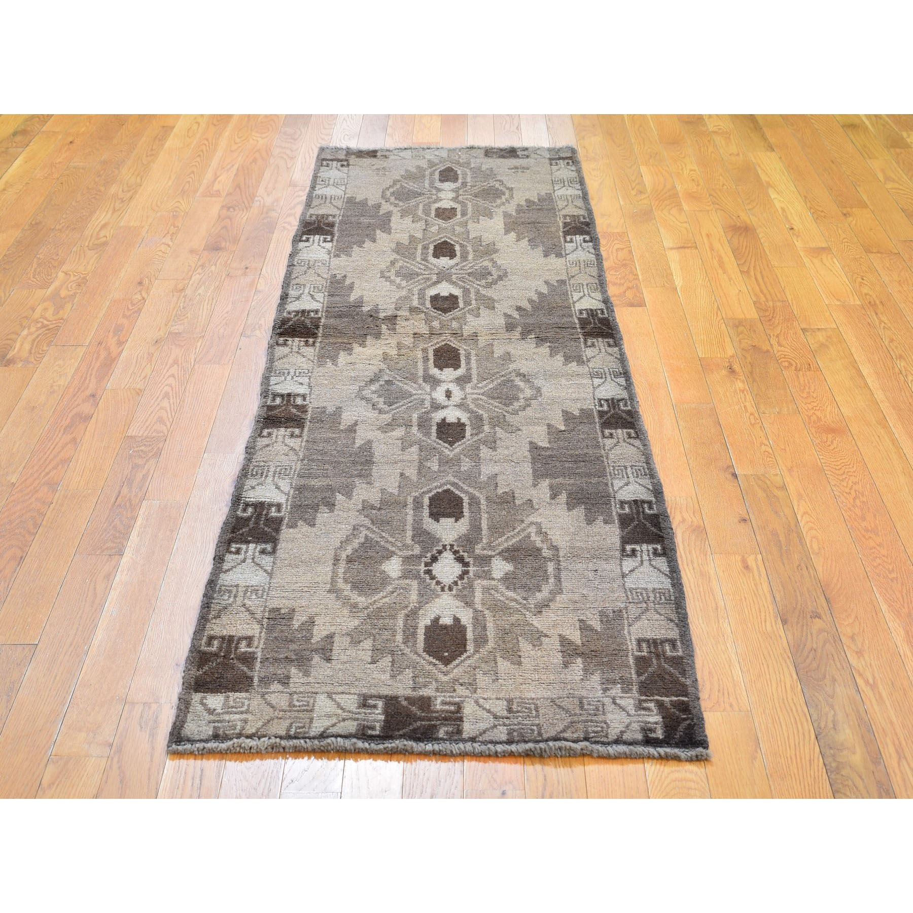 2-5 x8- Washed Out Afghan Baluch With Natural Colors Pure Wool Runner Hand Knotted Oriental Rug