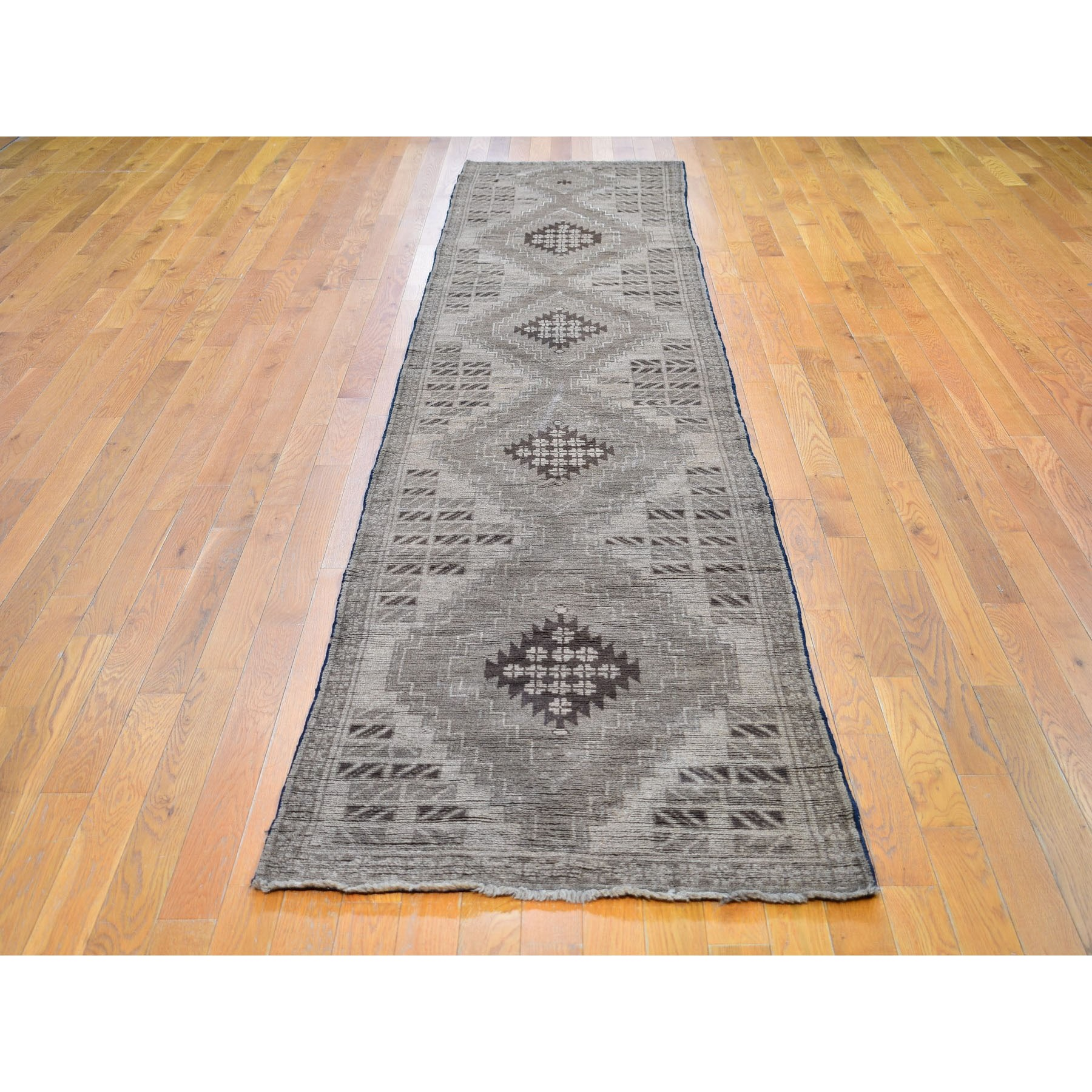 2-9 x12-8  Washed Out Afghan Baluch Pure Wool Hand Knotted Oriental Rug