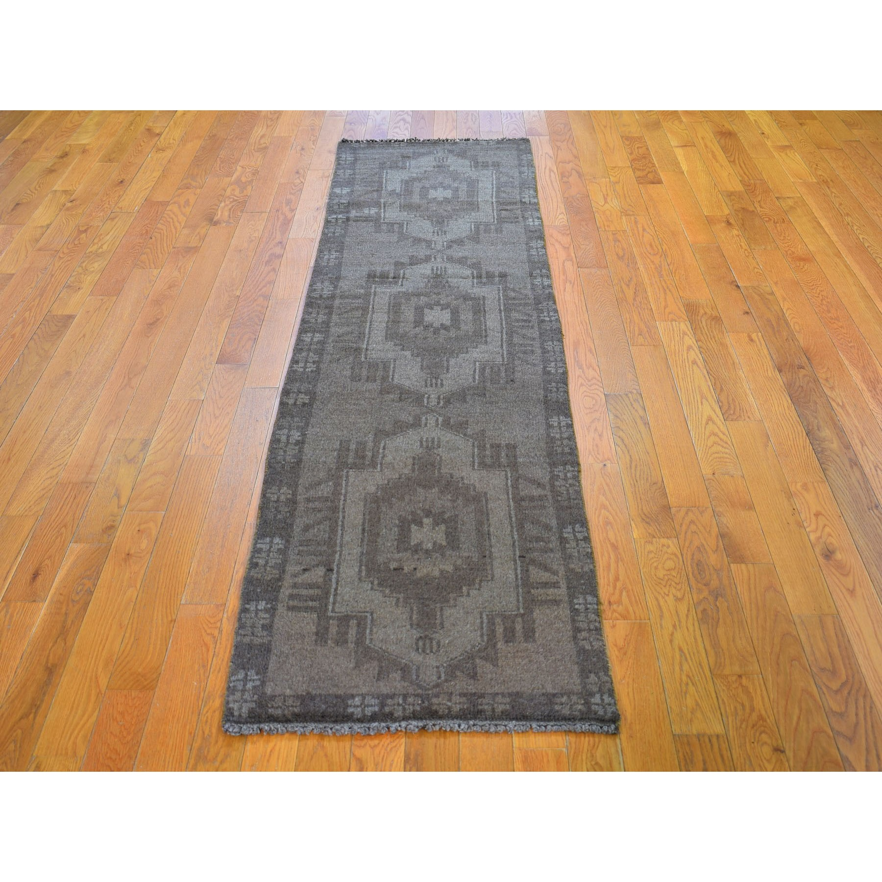 2-1 x8-2  Washed Out Afghan Baluch With Natural Colors Pure Wool Runner Hand Knotted Oriental Rug