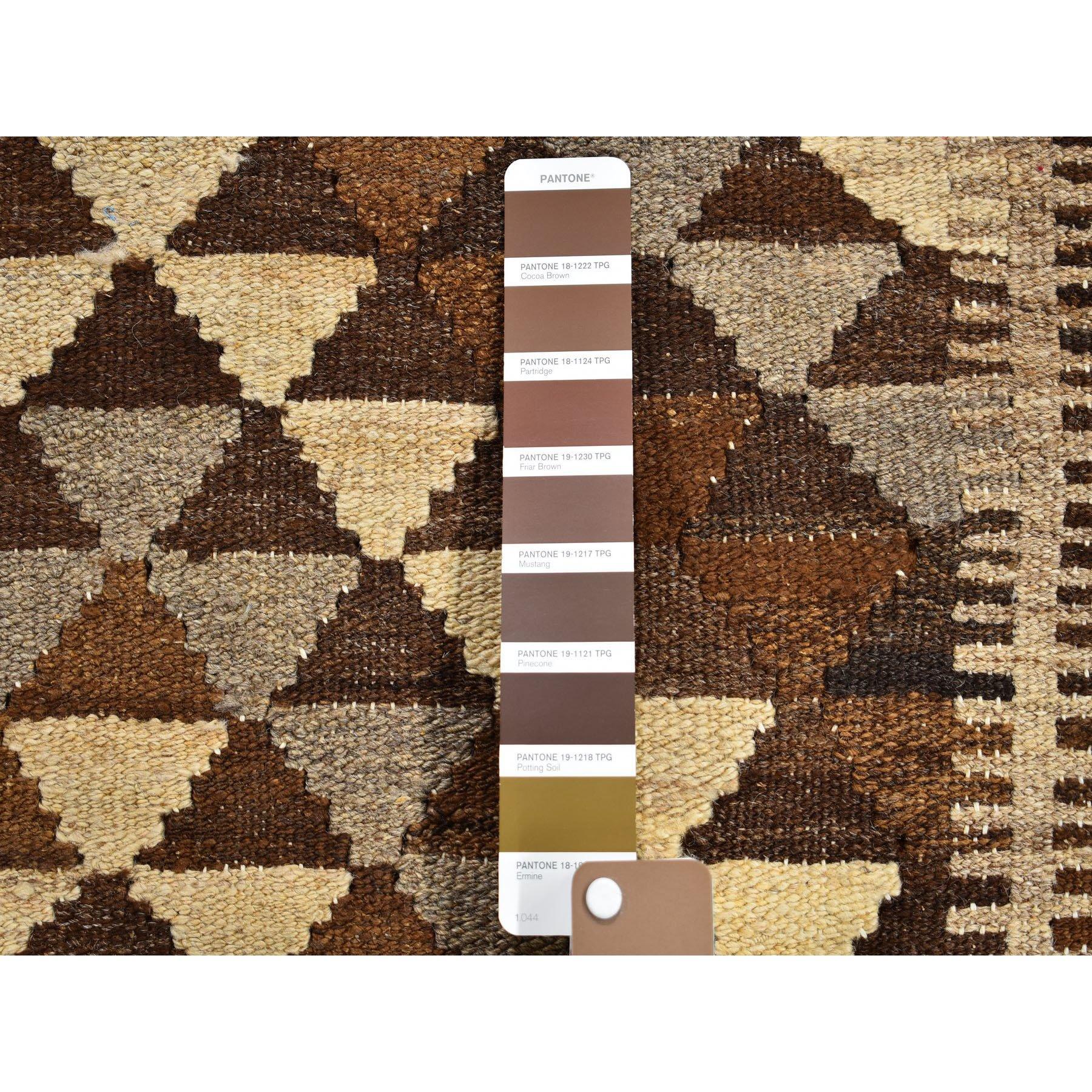 3-3 x12-6  Undyed Natural Wool Afghan Kilim Reversible Hand Woven Runner Oriental Rug