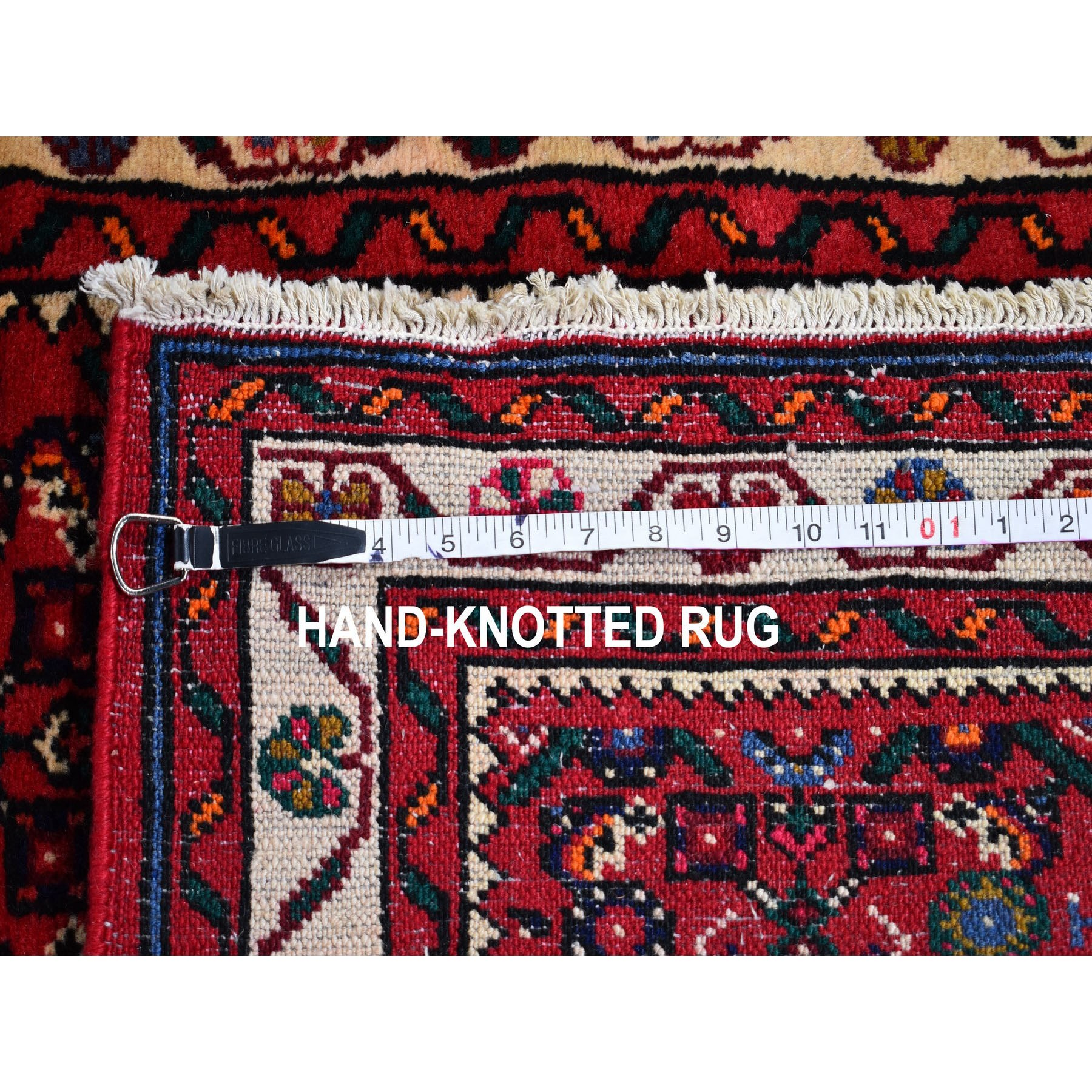 2-9 x19-5  Red New Persian Hamadan Fish Design Wool Hand Knotted XL Runner Oriental Rug