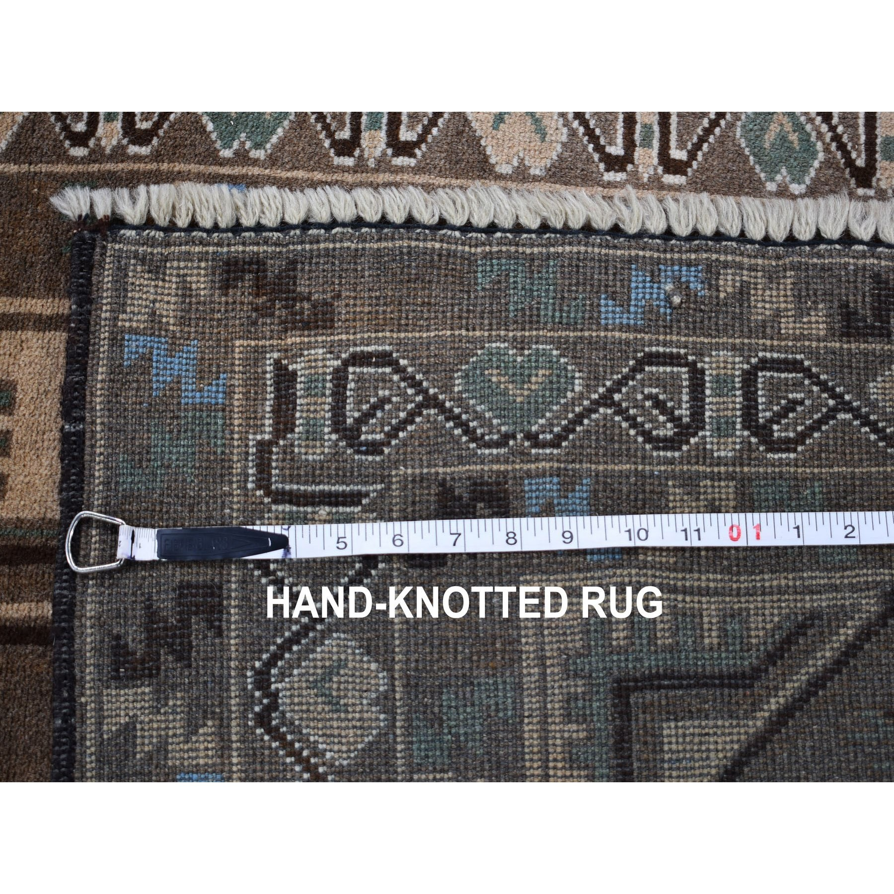 3-x5-2  Washed Out Afghan Baluch Touch Of Blue Pure Wool Hand Knotted Oriental Rug