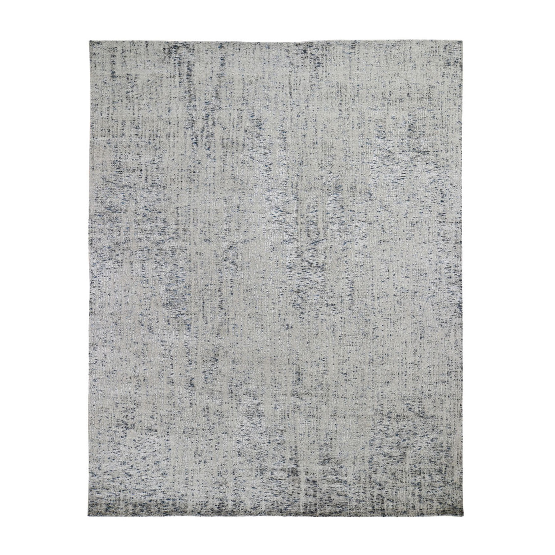 "8'X9'9"" Gray Fine Jacquard Hand-Loomed Modern Wool And Silk Oriental Rug moad9cb0"