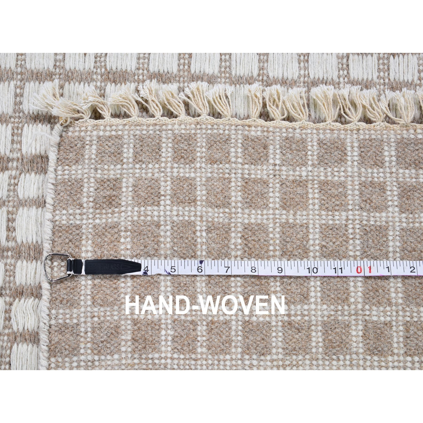 4-5 x6-5   Pure Wool Hand Woven Kilim Flat Weave Oriental Rug