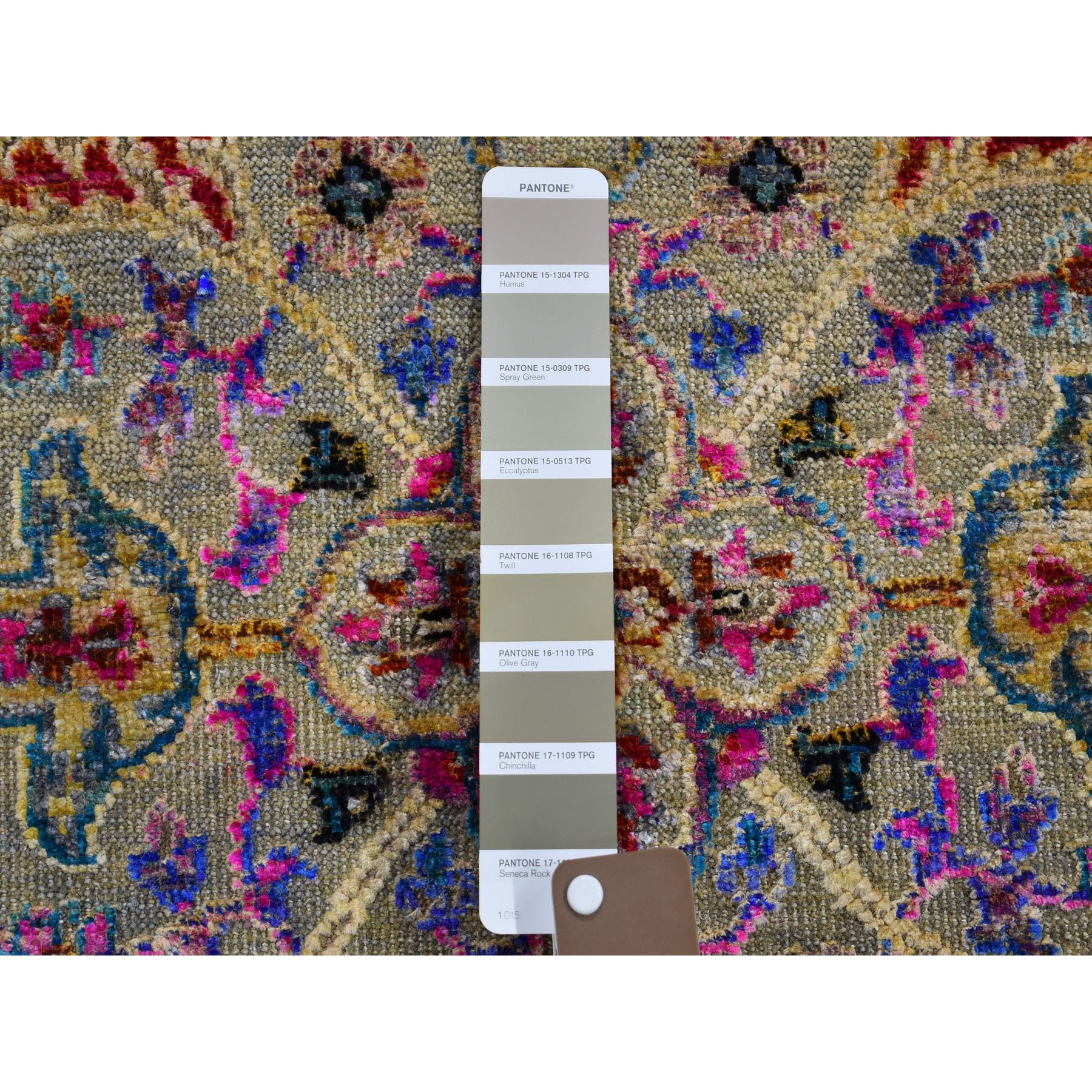 4-x6- Sari Silk and Textured Wool Colorful Maharaja Design Hand Knotted Oriental Rug