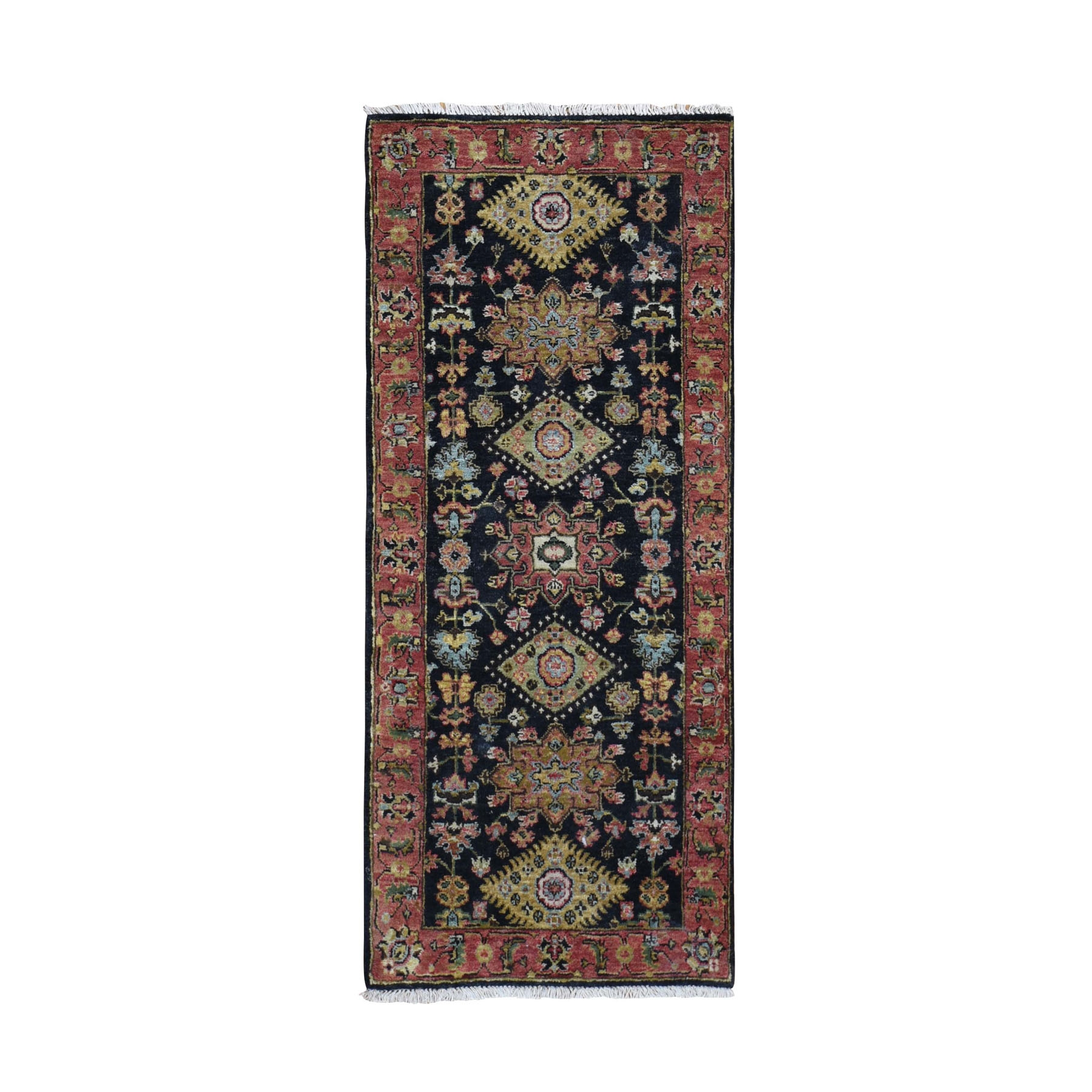 "2'6""X5'10"" Karajeh Design Runner Pure Wool Hand Knotted Oriental Rug moad9dc0"