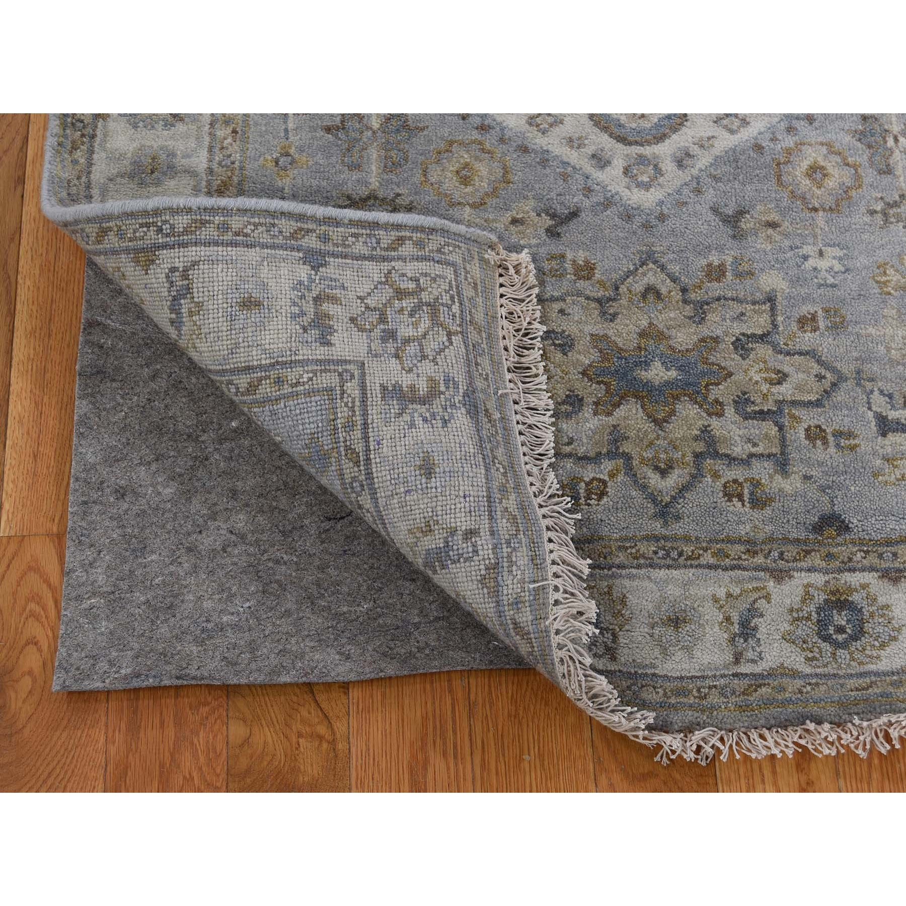 3-1 x5- Gray Karajeh Design Pure Wool Hand Knotted Oriental Rug