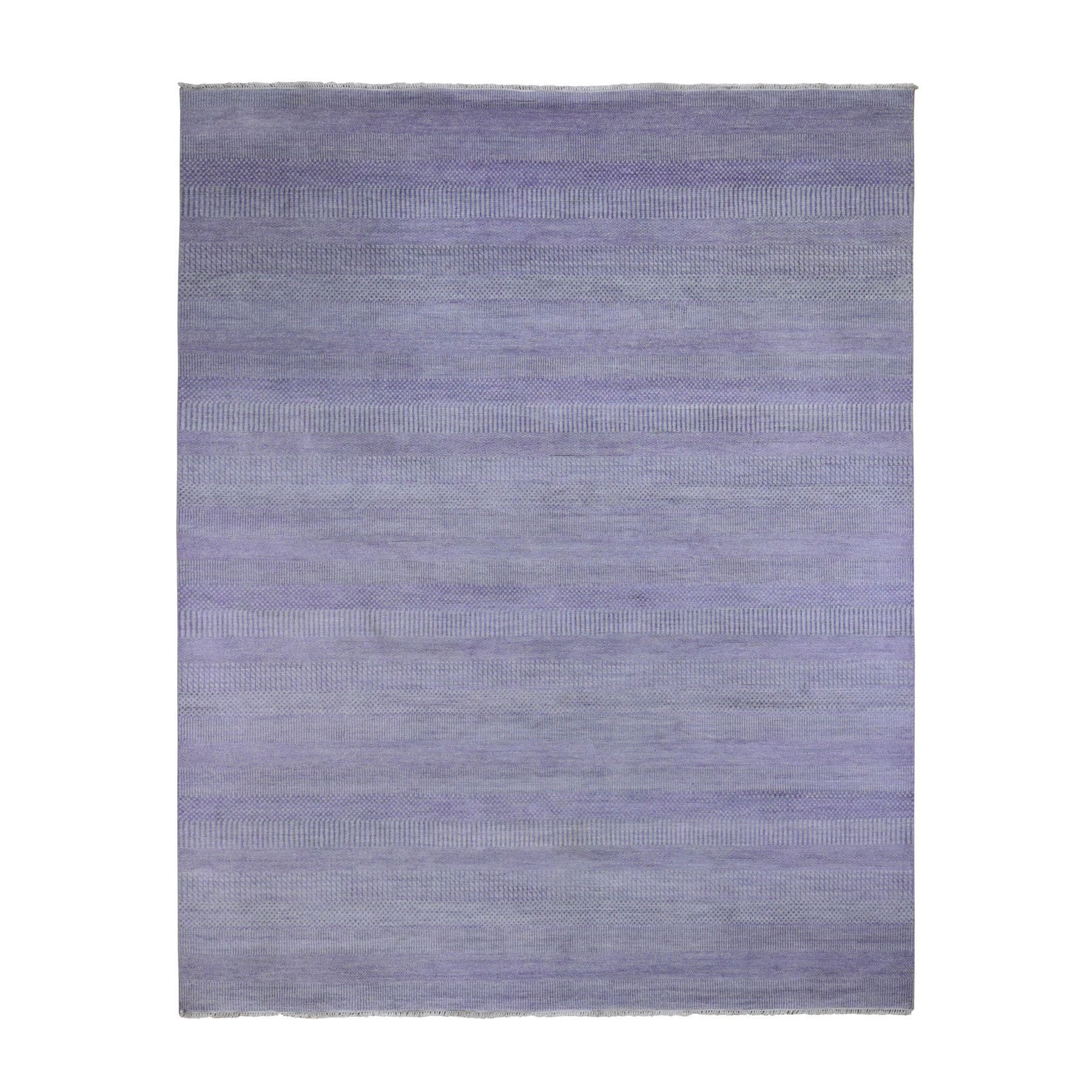"""8'2""""X9'10"""" Purple Grass Design Wool And Silk Hand Knotted Oriental Rug moad9e00"""