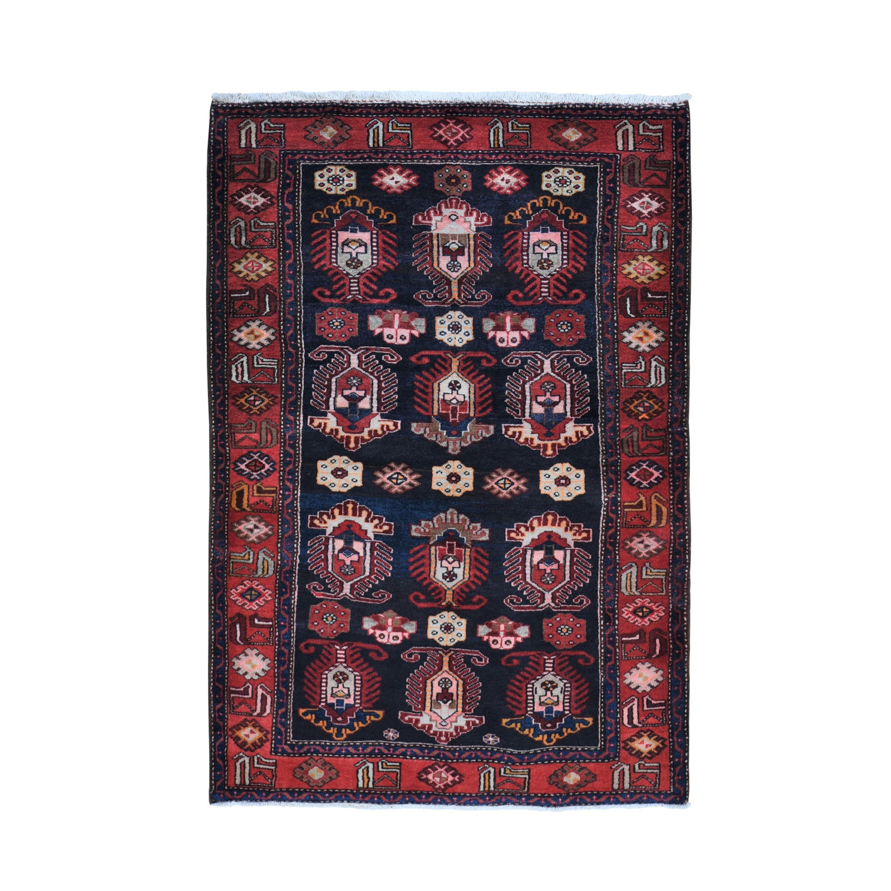 """4'8""""X7' Navy Blue New Persian Bakhtiari Full Pile Hand Knotted Oriental Rug moad9e6b"""