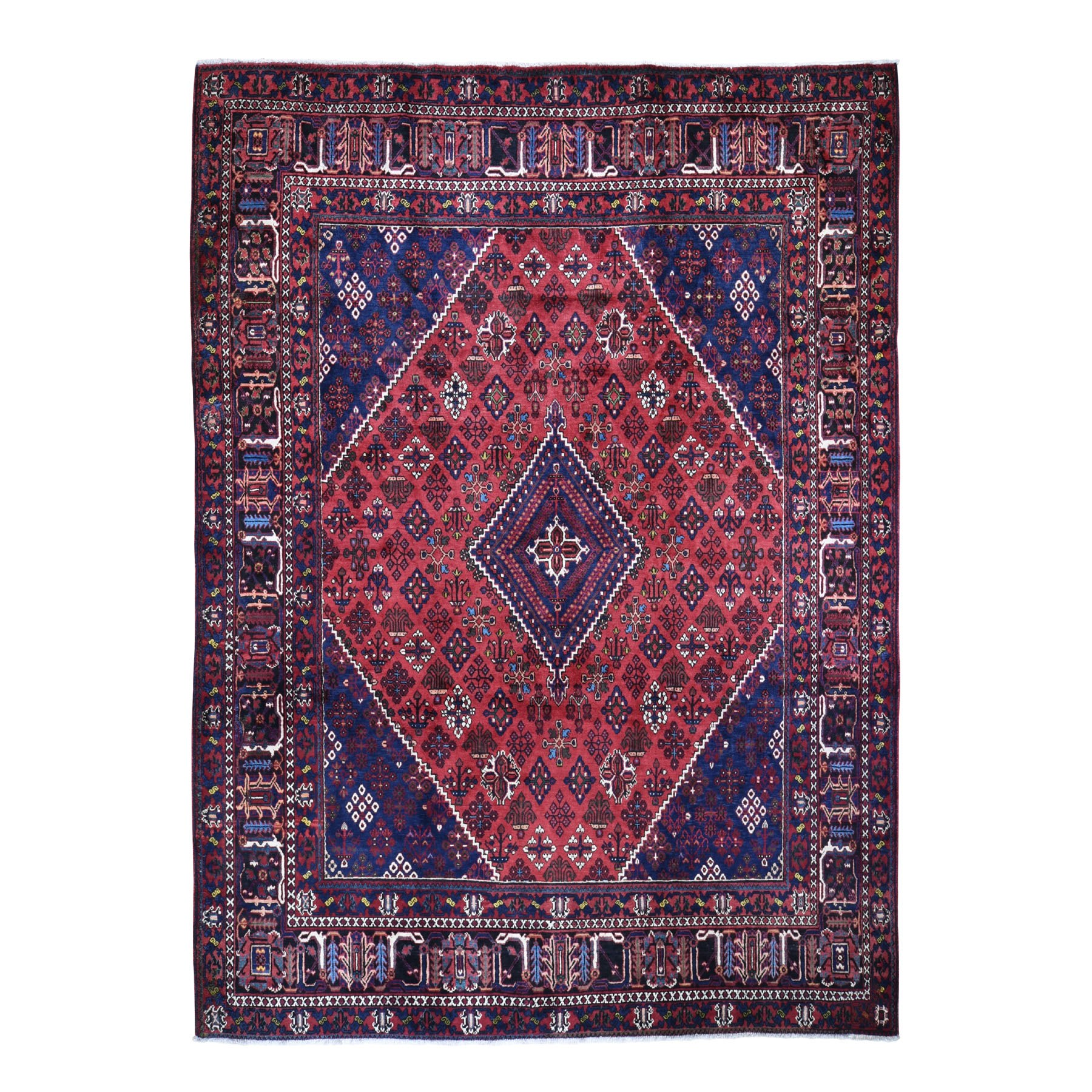 """10'1""""X12'8"""" Red Vintage Persian Joshagan Full Pile Exc Cond Clean Hand Knotted Oriental Rug moad9e7b"""