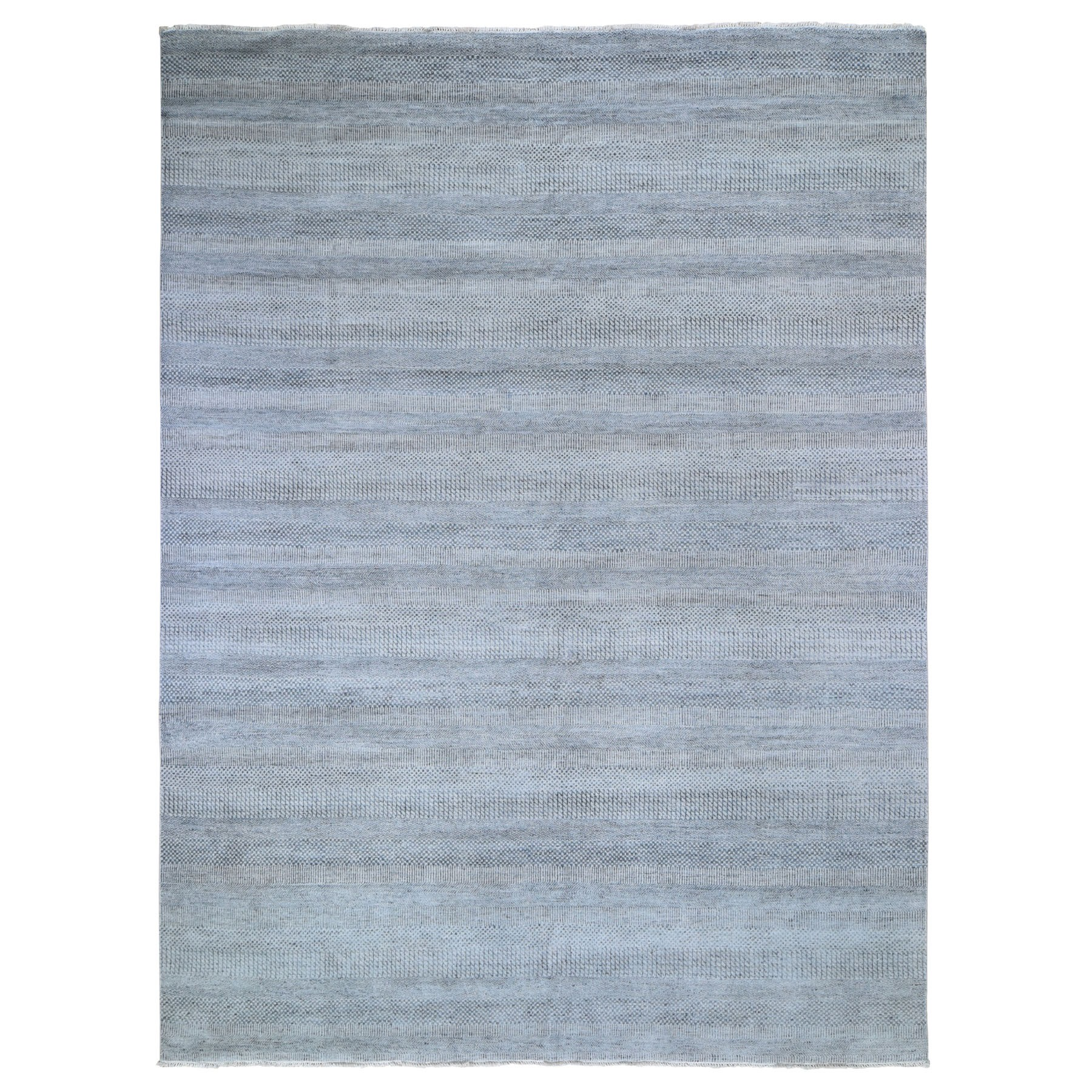 9'X12' Gray Grass Design Wool And Silk Hand Knotted Oriental Rug moad9e90