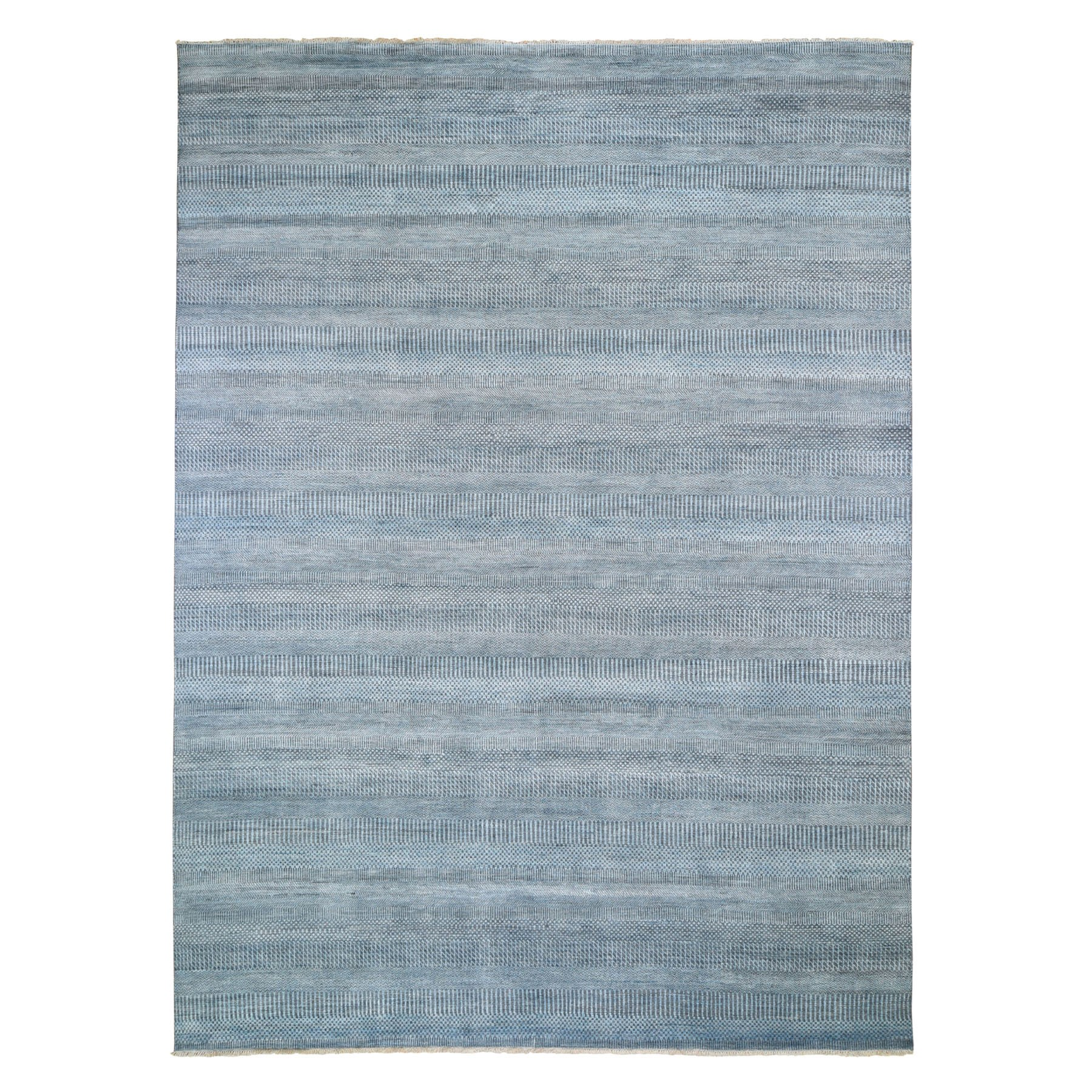 """8'9""""X12' Gray Grass Design Wool And Silk Hand Knotted Oriental Rug moad9e9b"""