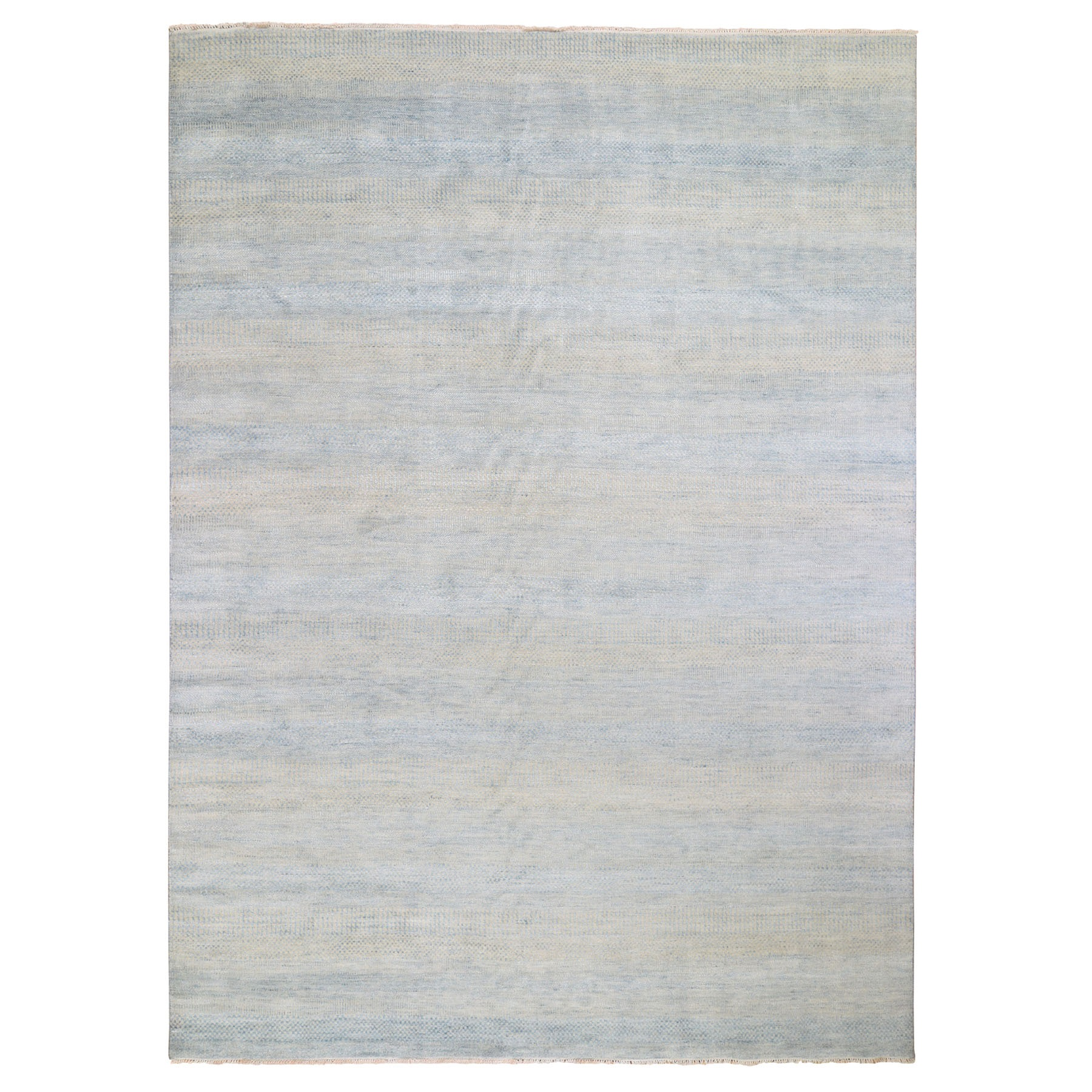 """9'X12'2"""" Gray Grass Design Wool And Silk Hand Knotted Oriental Rug moad9e97"""