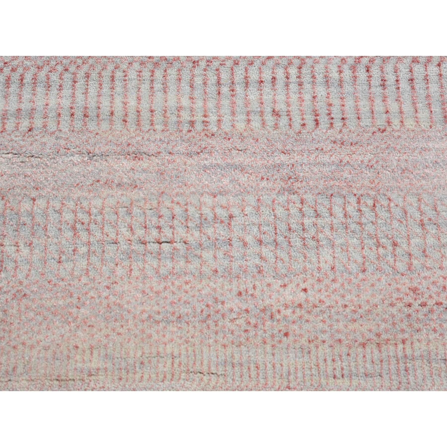 8-1 x10-1  Pink Grass Design Wool And Silk Hand Knotted Oriental Rug