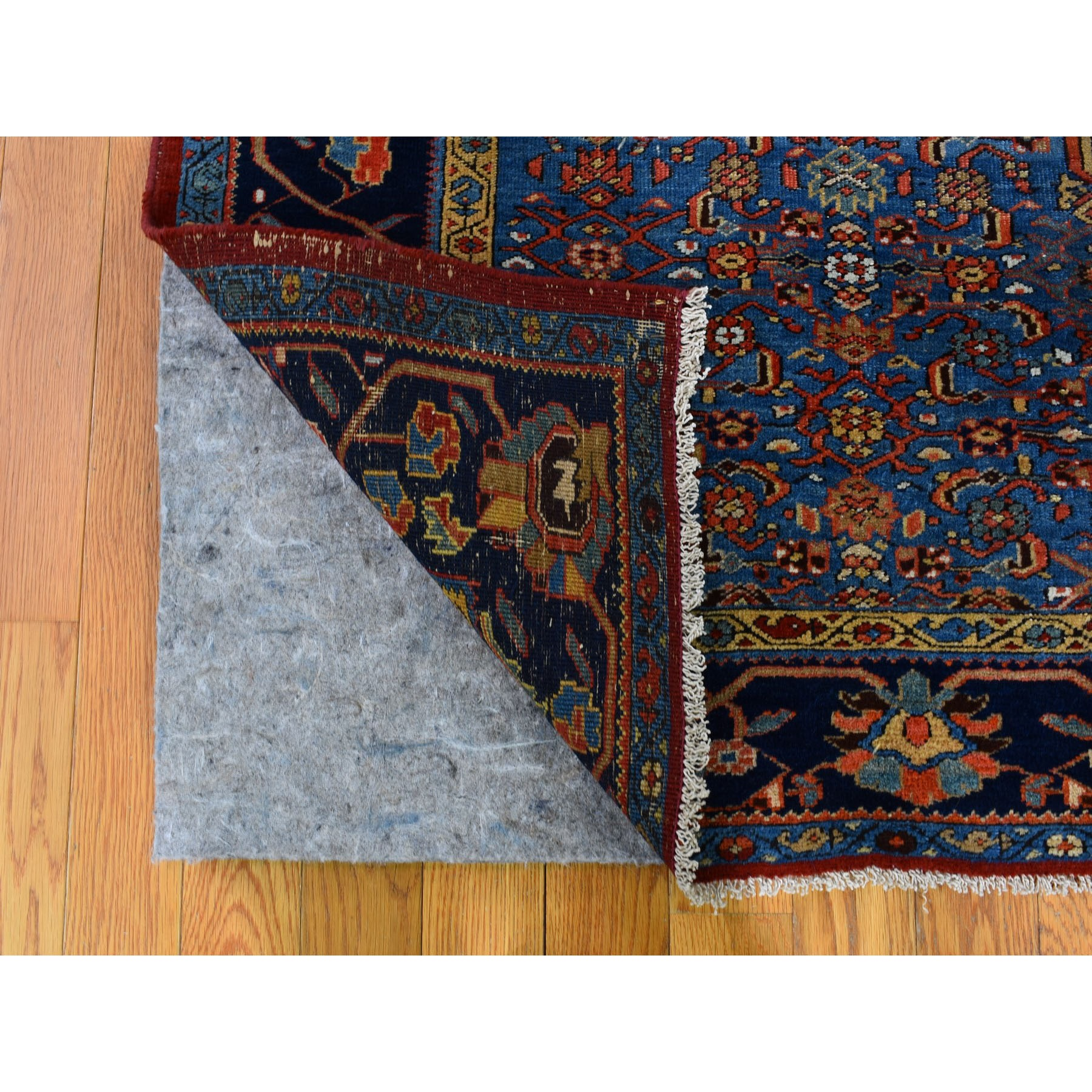 "8'7""x10'7"" Orange Antique And Worn Persian Afshar Open Filed With Medallion Hand Knotted Oriental Rug"