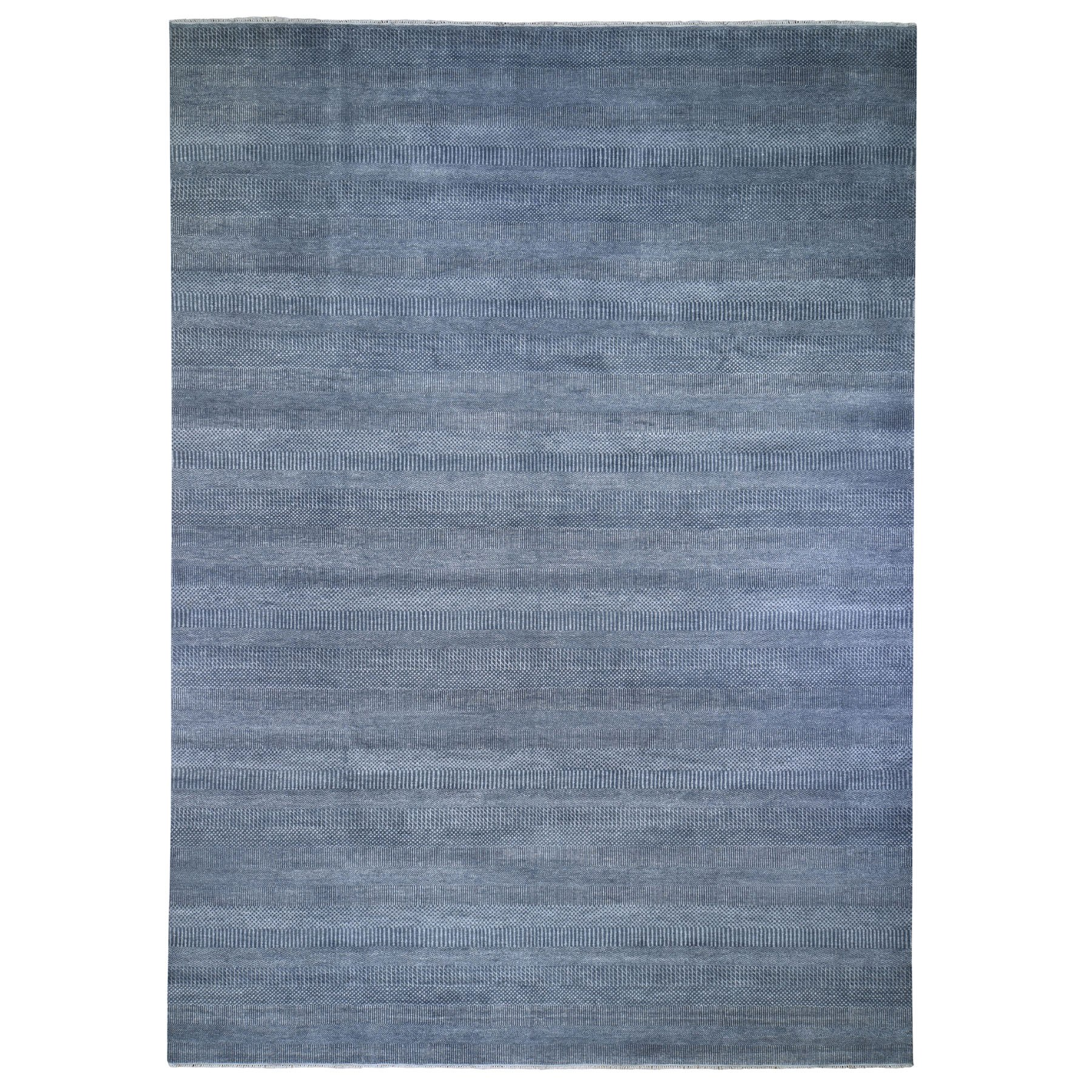 """10'X14'2"""" Gray Grass Design Wool And Silk Hand Knotted Oriental Rug moad96eb"""