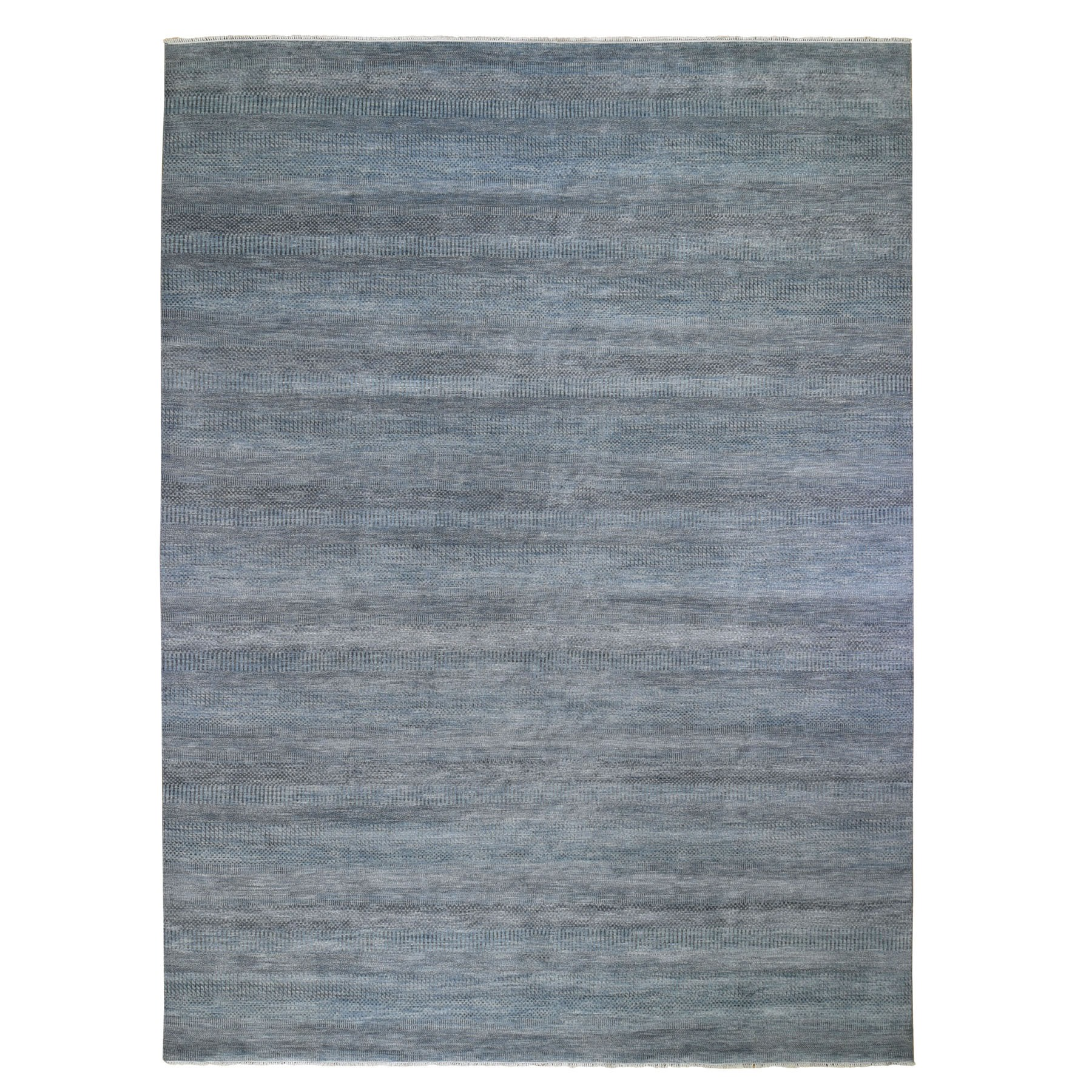 """10'X13'9"""" Blue Grass Design Wool And Silk Hand Knotted Oriental Rug moad96ee"""