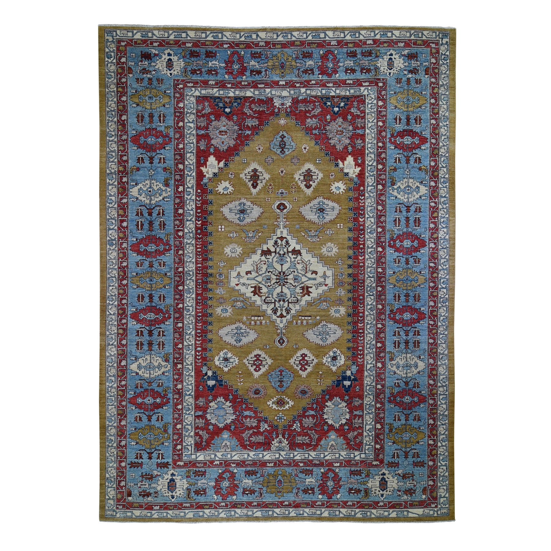 "9'10""X13'10"" Bronze Bakshaish Hand Knotted Pure Wool Oriental Rug moad96e6"