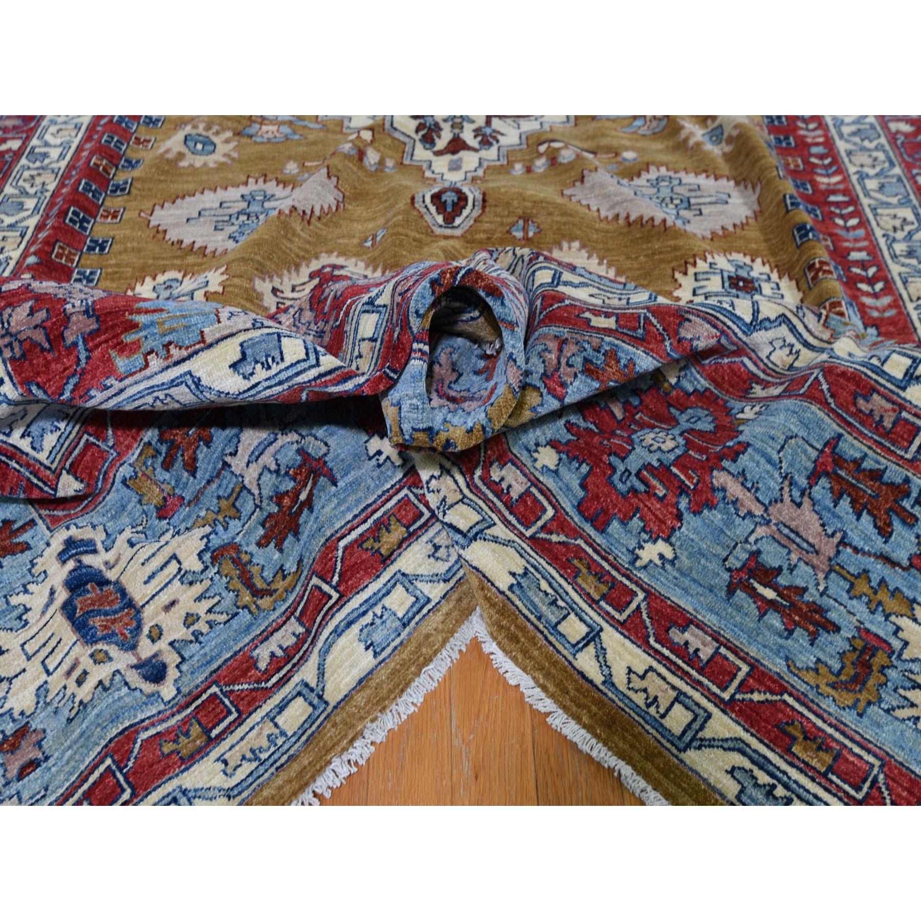 9-10 x13-10  Bronze Bakshaish Hand Knotted Pure Wool Oriental Rug