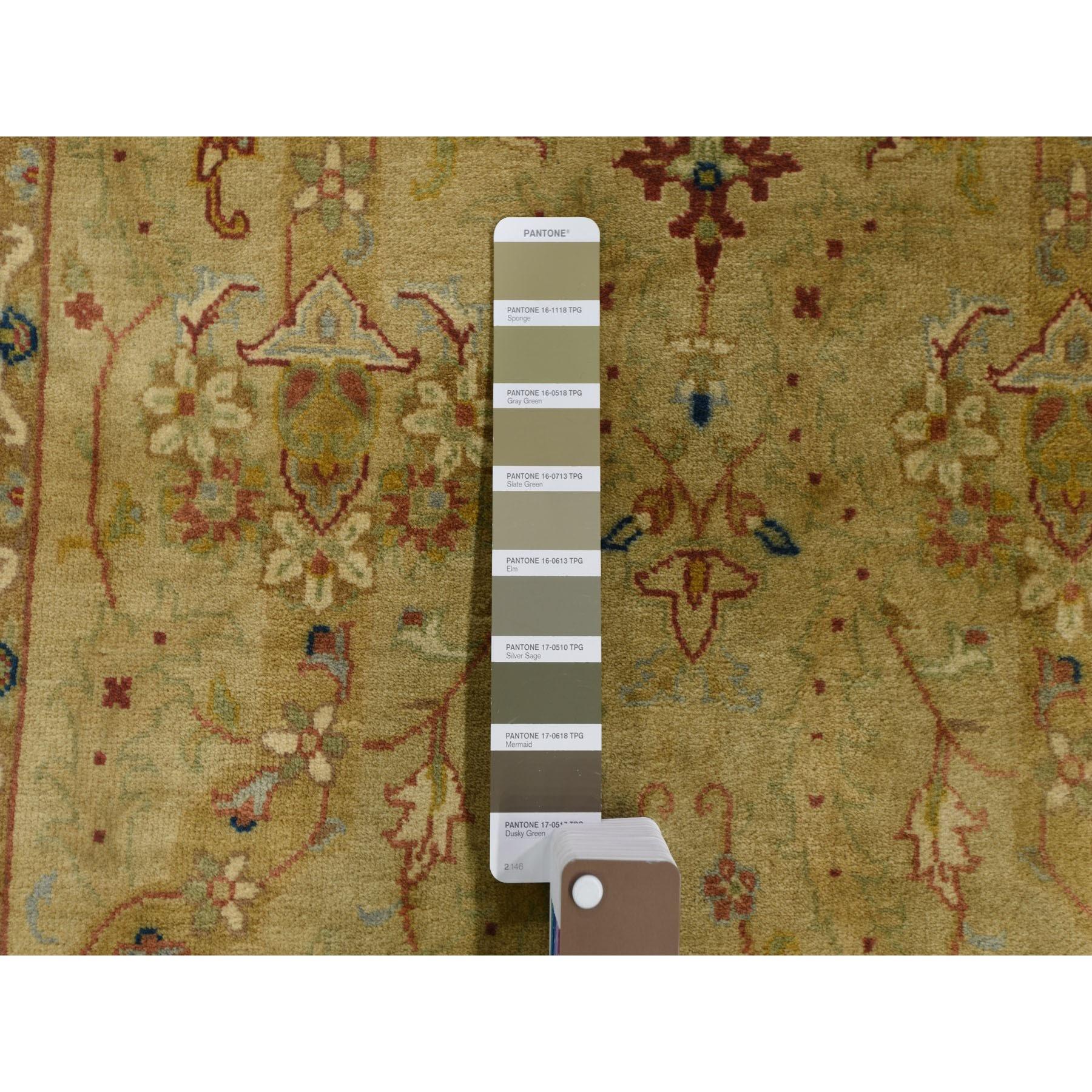 3-x23-3  Super Dense Weave Tabriz XL Runner 300 KPSI Hand Knotted Oriental Rug